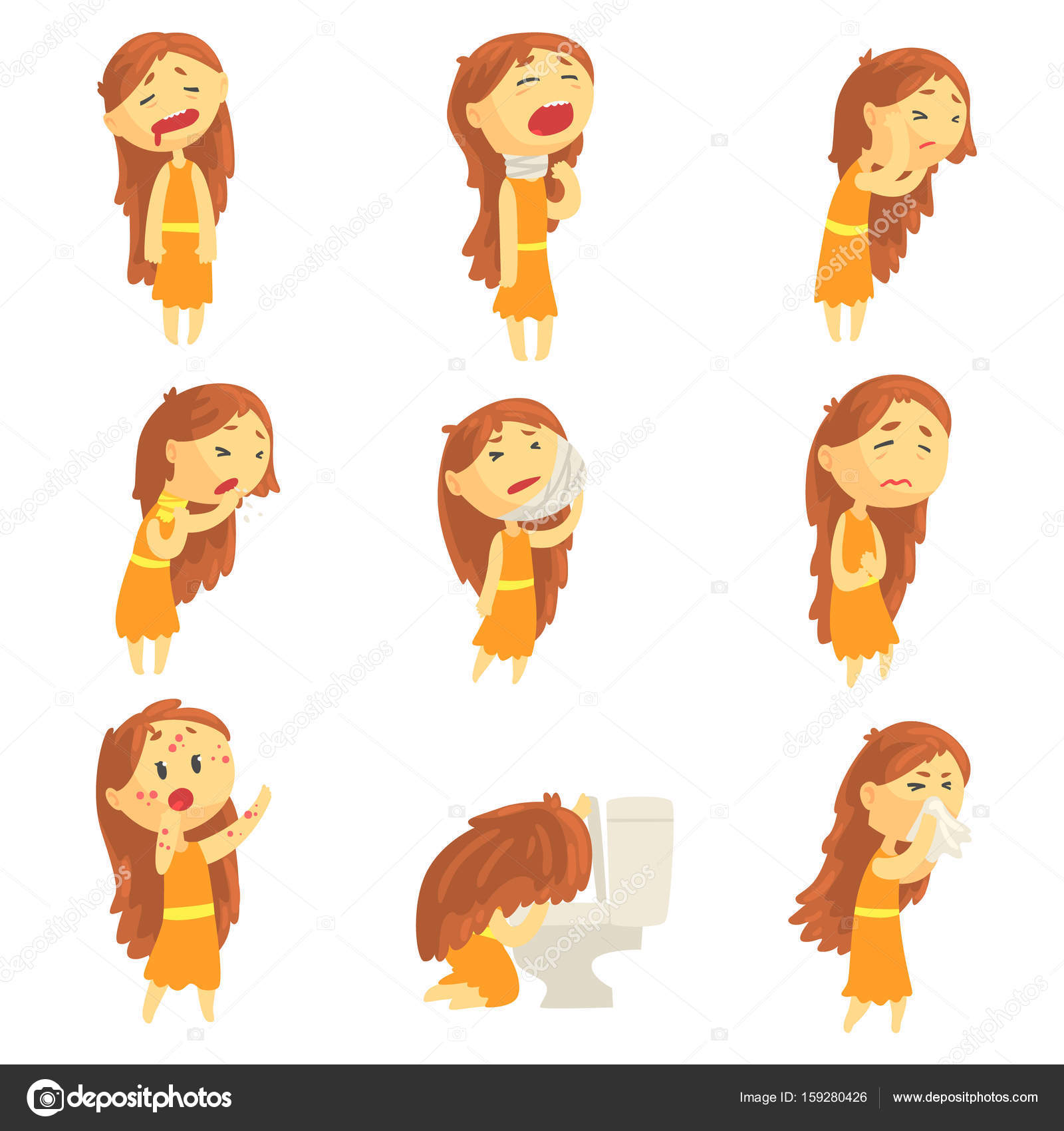 cartoon unhappy woman suffering from pain with symptoms of woman clip art images woman clipart black & white