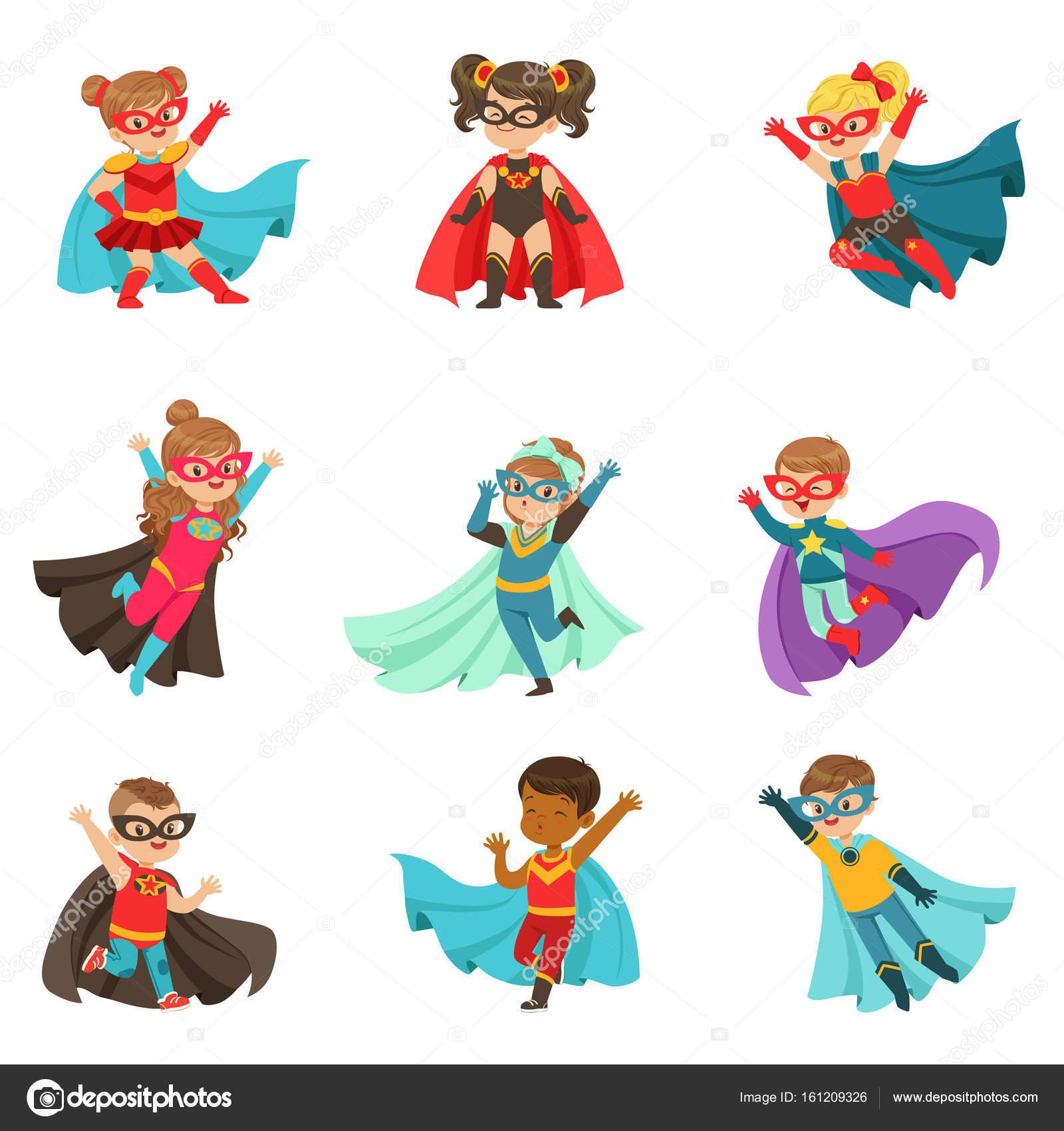Super kids set — Stock Vector © TopVectors #161209326