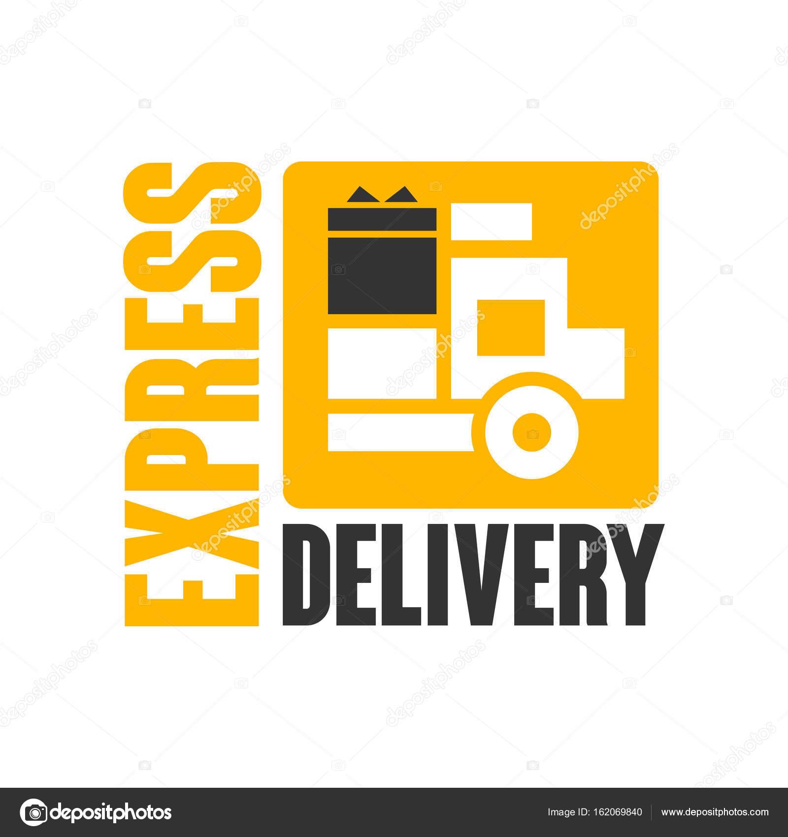 Plantilla de diseño de logo de entrega expresa — Archivo Imágenes ...