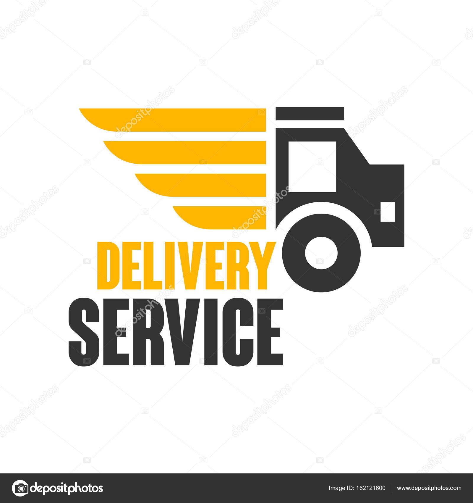Delivery service logo design template — Stock Vector © TopVectors ...