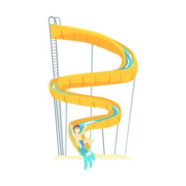 Yellow plastic slide