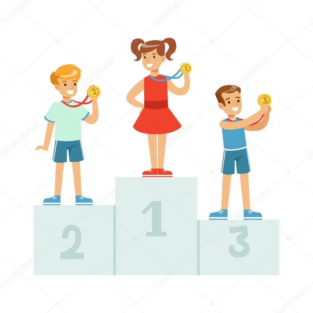 дети занимают призовые места