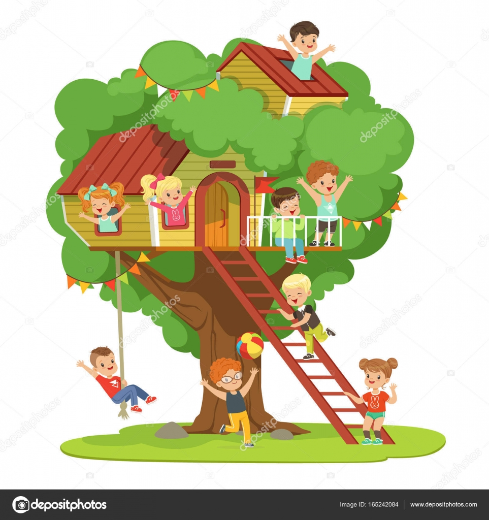 Áˆ Kid Tree House Stock Pictures Royalty Free Kids Treehouse Images Download On Depositphotos Classic cartoons, like the backyardigans and franklin, are featured on treehouse tv, and newer shows, like babar & the adventures of badou have a place there as well. https depositphotos com 165242084 stock illustration kids having fun in the html