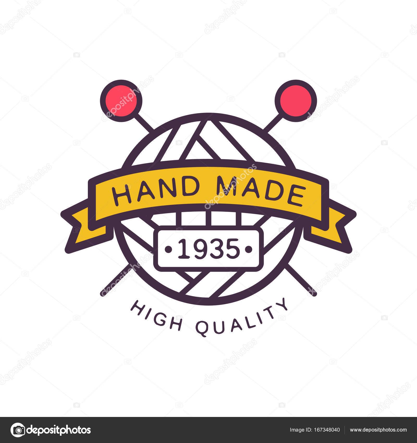 Handgefertigte Logo Vorlage, hohe Qualität seit 1935, Retro ...