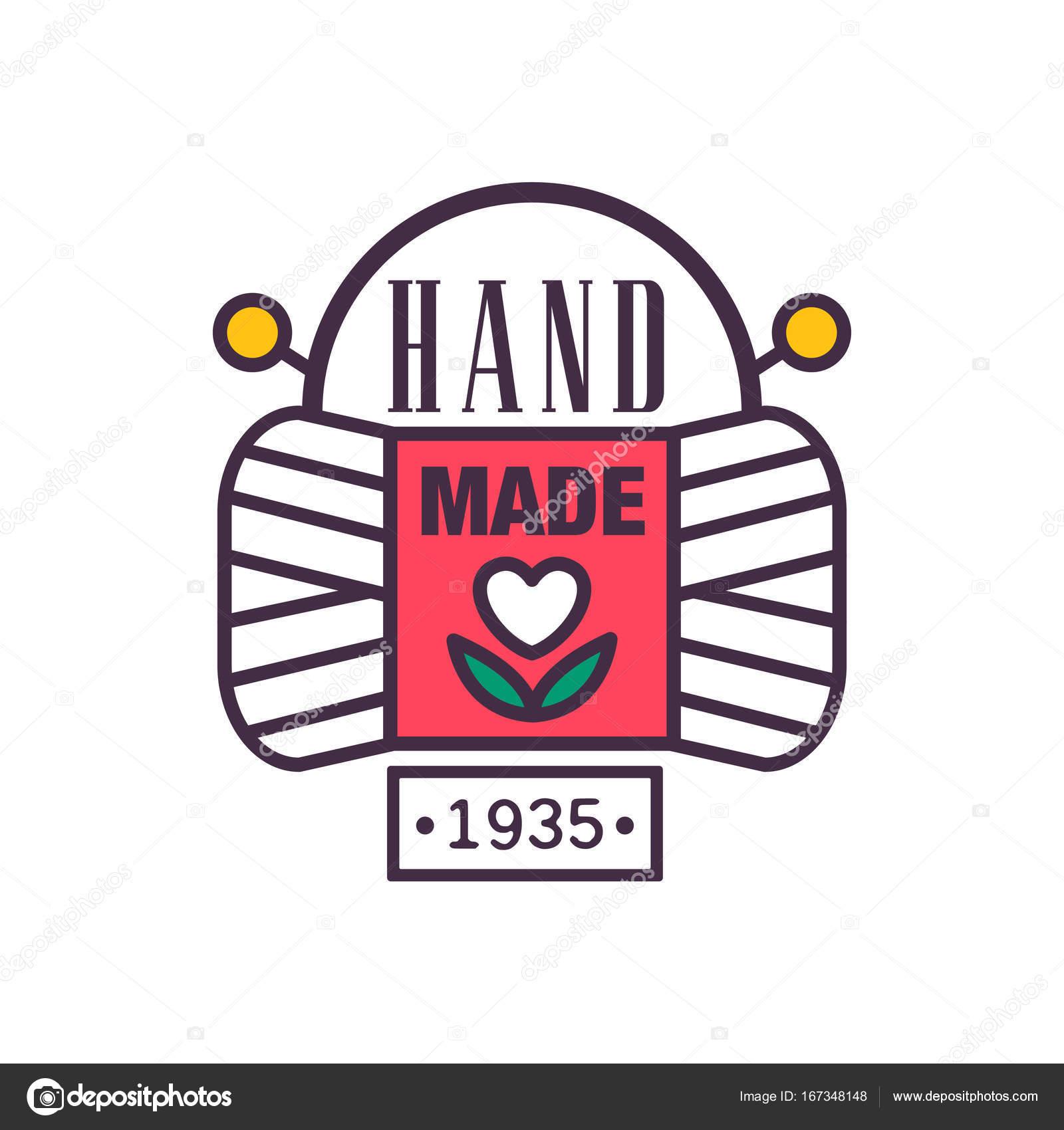 Handgefertigte Logo Vorlage, seit 1935, Retro-Handarbeit Handwerk ...