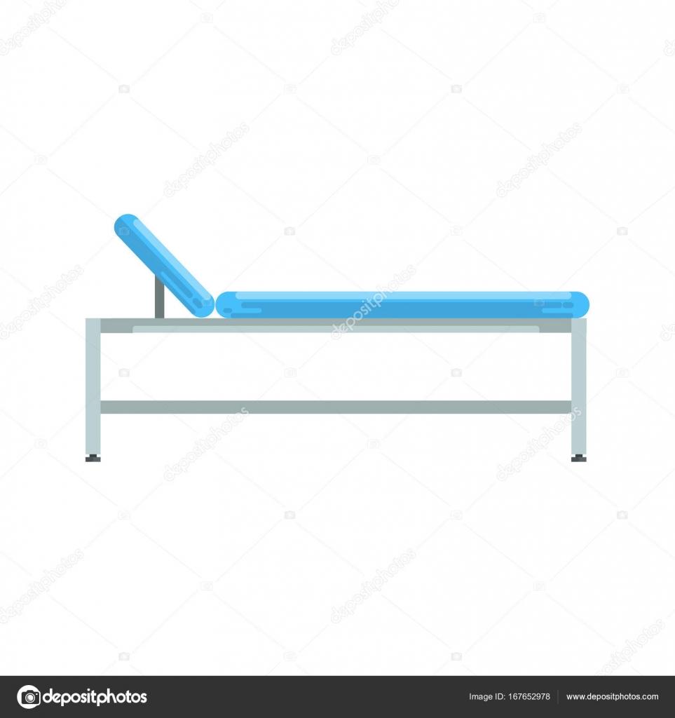 łóżko Szpitalne Sprzęt Medyczny Wektor Ilustracja Grafika