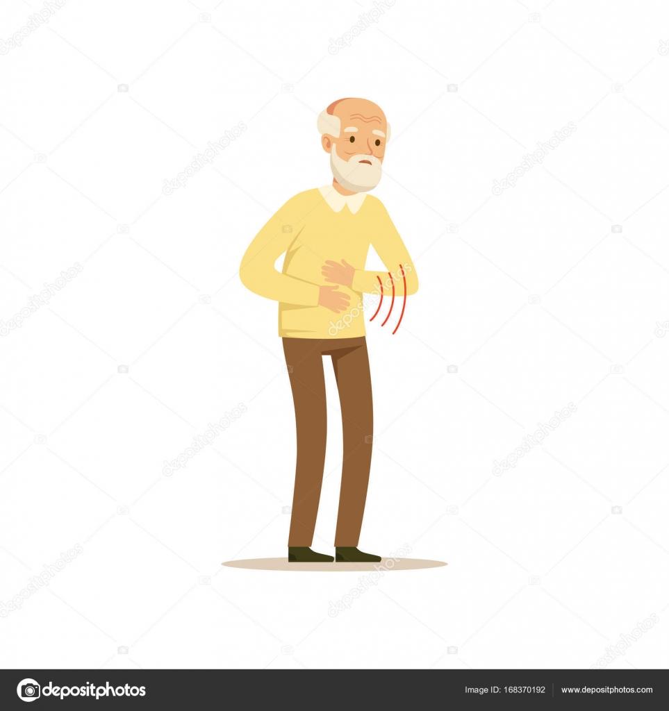 Male Character Abdominal Pain Stock Vector Topvectors 168370192