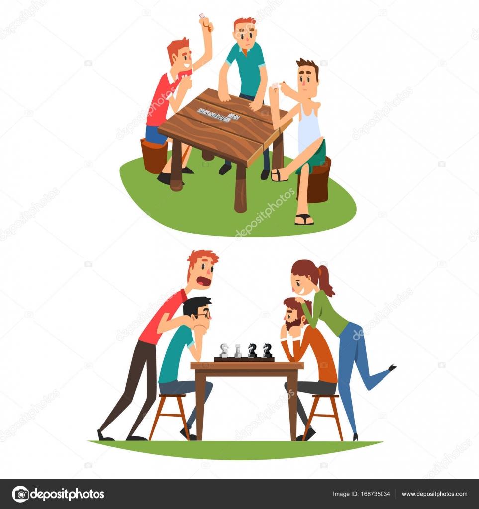 Giochi da tavolo impostare amici giocando a domino e - Domino gioco da tavolo ...