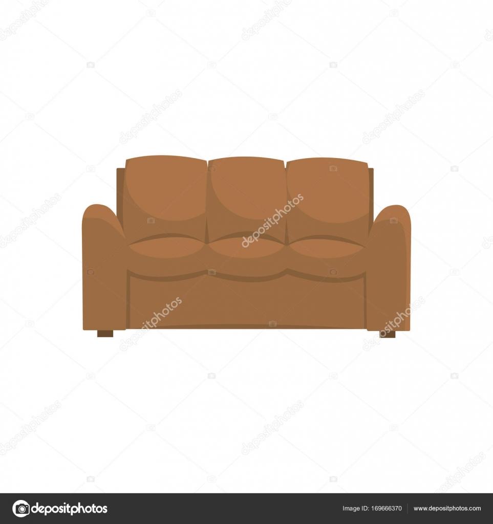 Muebles interiores sof o sill n sala de estar u oficina for Sala de estar marron