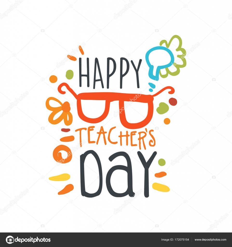 Happy teachers day abstract greeting card with glasses stock happy teachers day abstract greeting card with glasses stock vector m4hsunfo