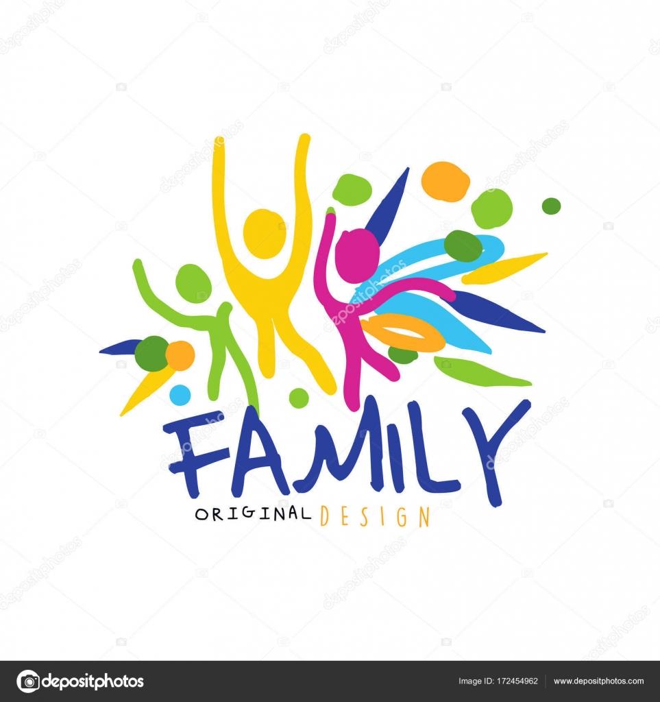 Family logo stock vector. Image of artwork