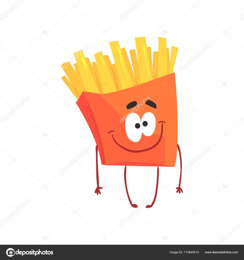 lustige pommes frites fastfood zeichentrickfigur element f r men mit caf restaurant kinder. Black Bedroom Furniture Sets. Home Design Ideas