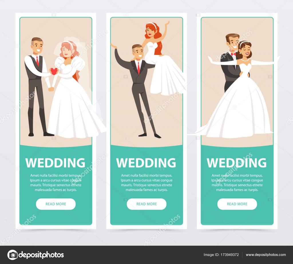 Novios boda Imágenes Vectoriales, Ilustraciones Libres de Regalías ...
