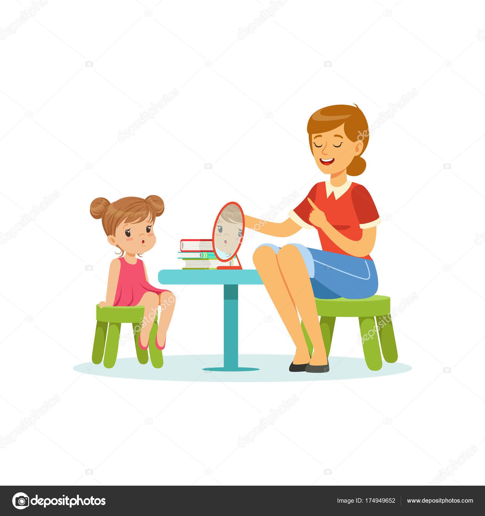 Especialista en lenguaje y enseñanza de niña correcta pronunciación de las  letras. Desarrollo racional del discurso del niño. Personajes de dibujos  animados ... 430880cde1e