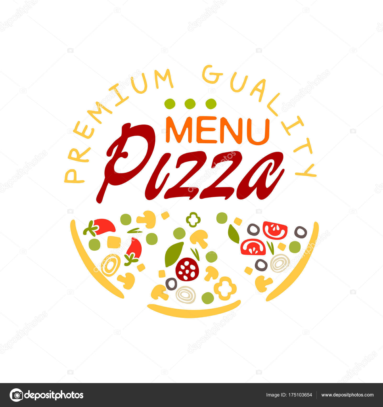 Indian Restaurant Logo Design Ideas Flat Pizza House Logo Creative Design Element With Pizza Slice Emblem For Cafe Menu Food Delivery Company Vector Colorful Pizzeria Badge Stock Vector C Topvectors 175103654