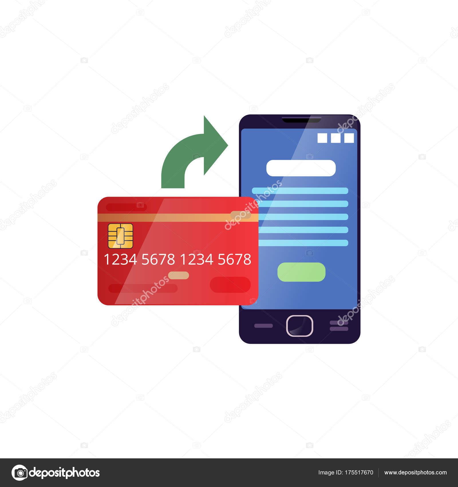 Carte Bancaire Sur Telephone.Carte De Credit Et Telephone Portable Montrant Le Processus De
