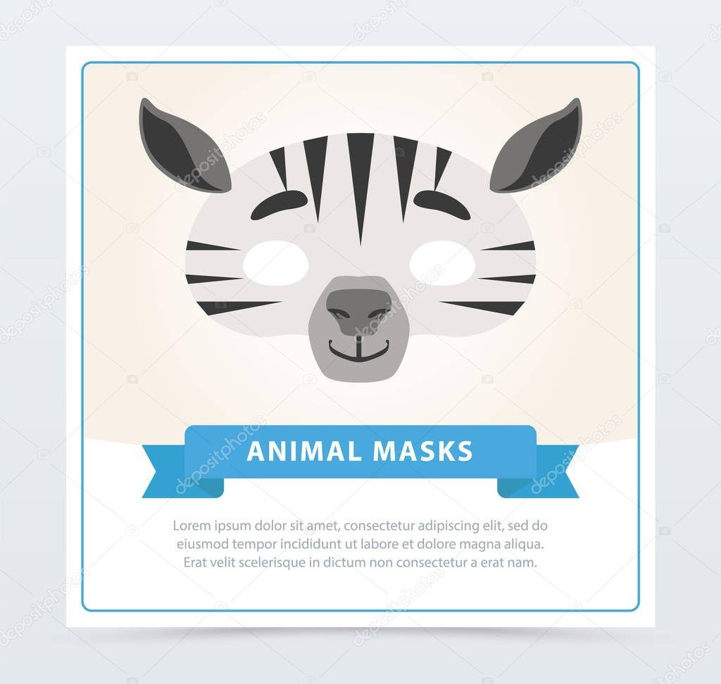 Kreative Maskerade Maske Zebra African Safari Design Dschungel