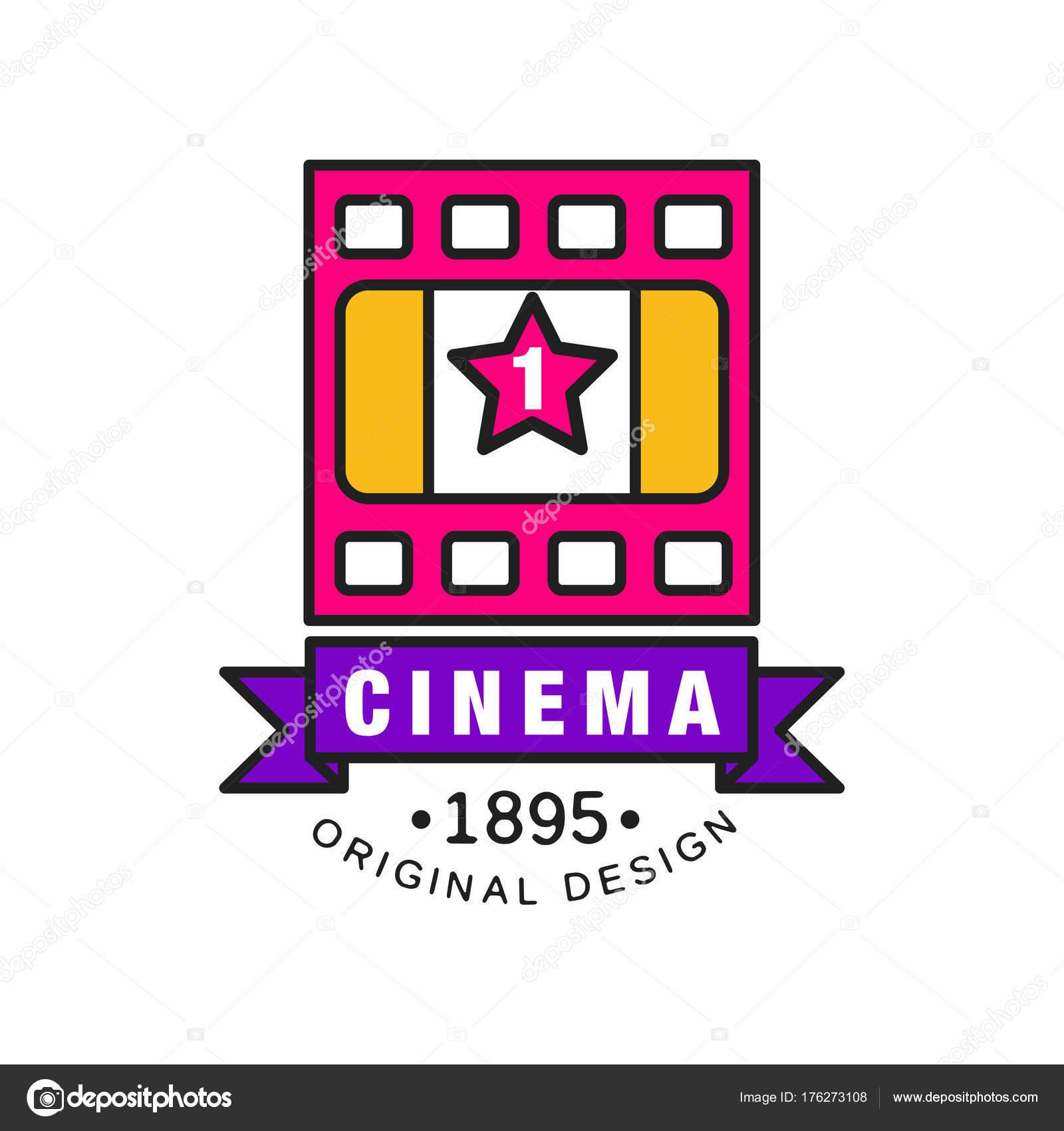 Stilvolle Logo Design-Vorlage für Kino oder Film. Film-Industrie ...