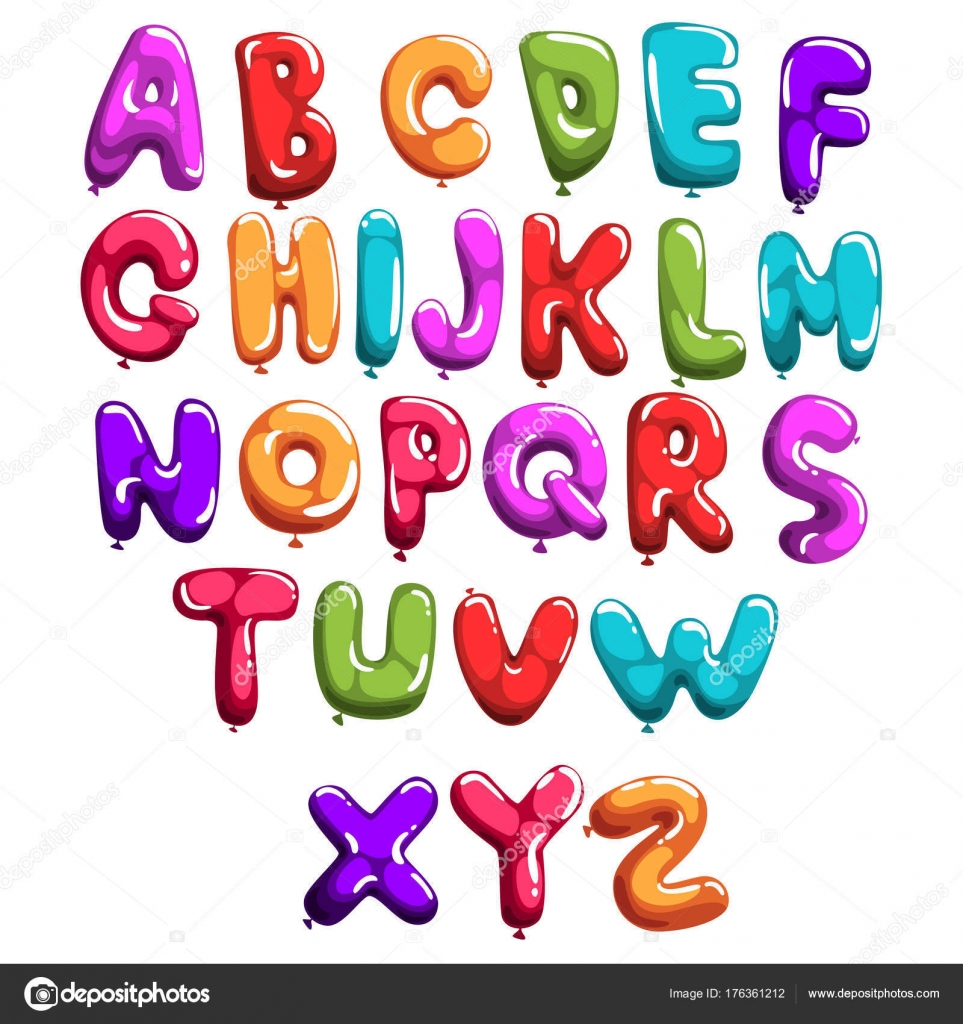 Z letter use bright color abcd t numbers typography - Lettres alphabet originales ...