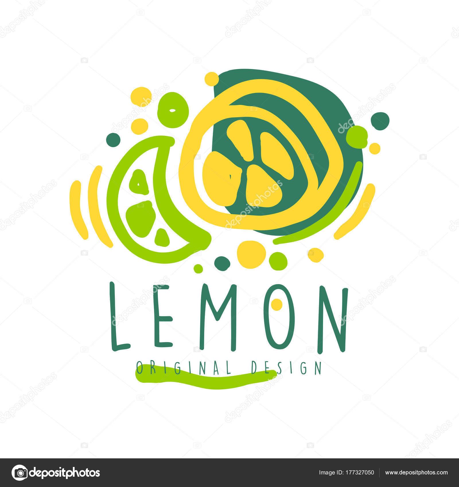 Zitrone original Logo Design, gesundes Naturprodukt Abzeichen ...