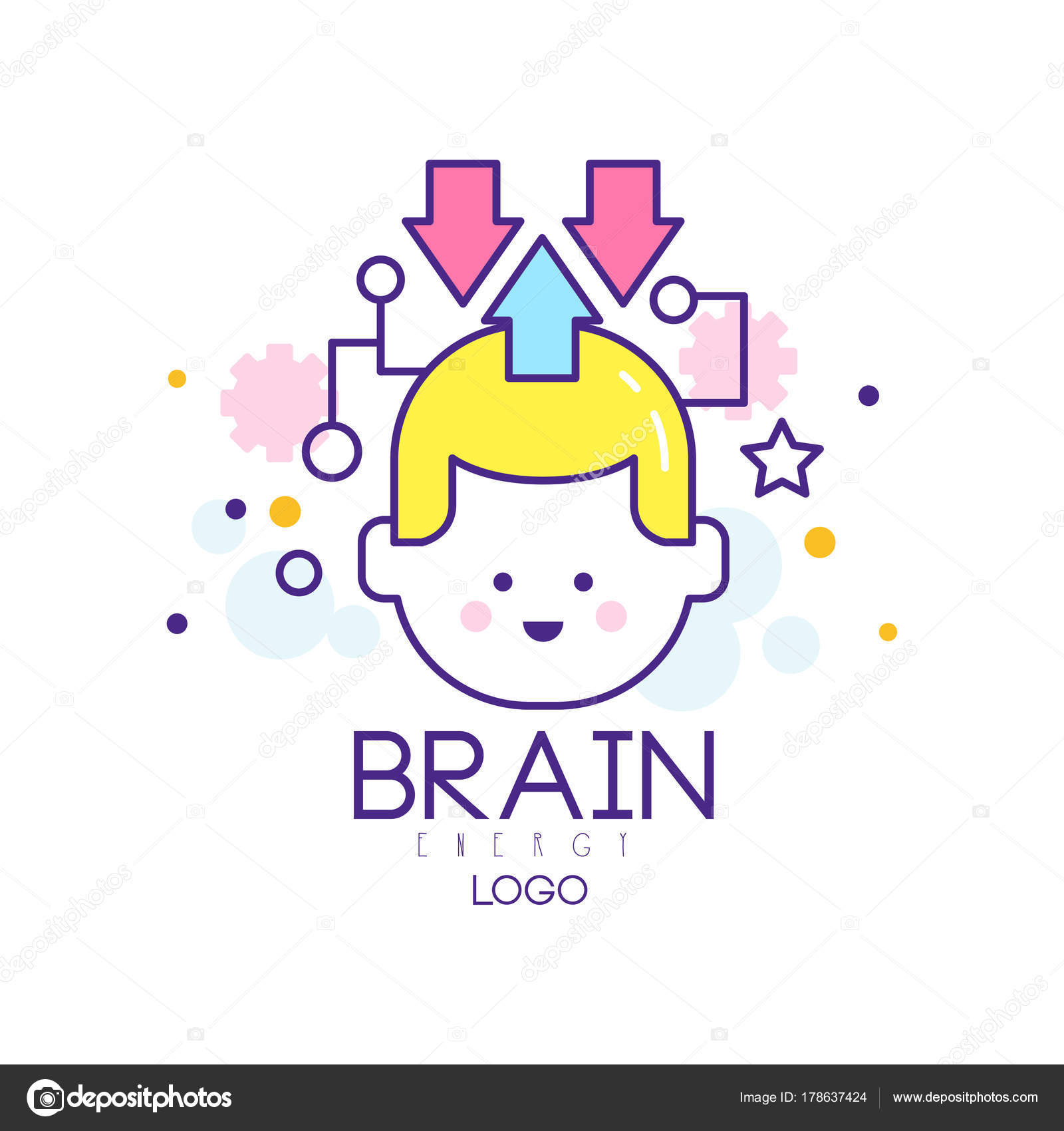 Abstract silhouette of child head in thinking process generation abstract silhouette of child head in thinking process generation of knowledge concept of children education and creativity brain energy symbol in outline biocorpaavc