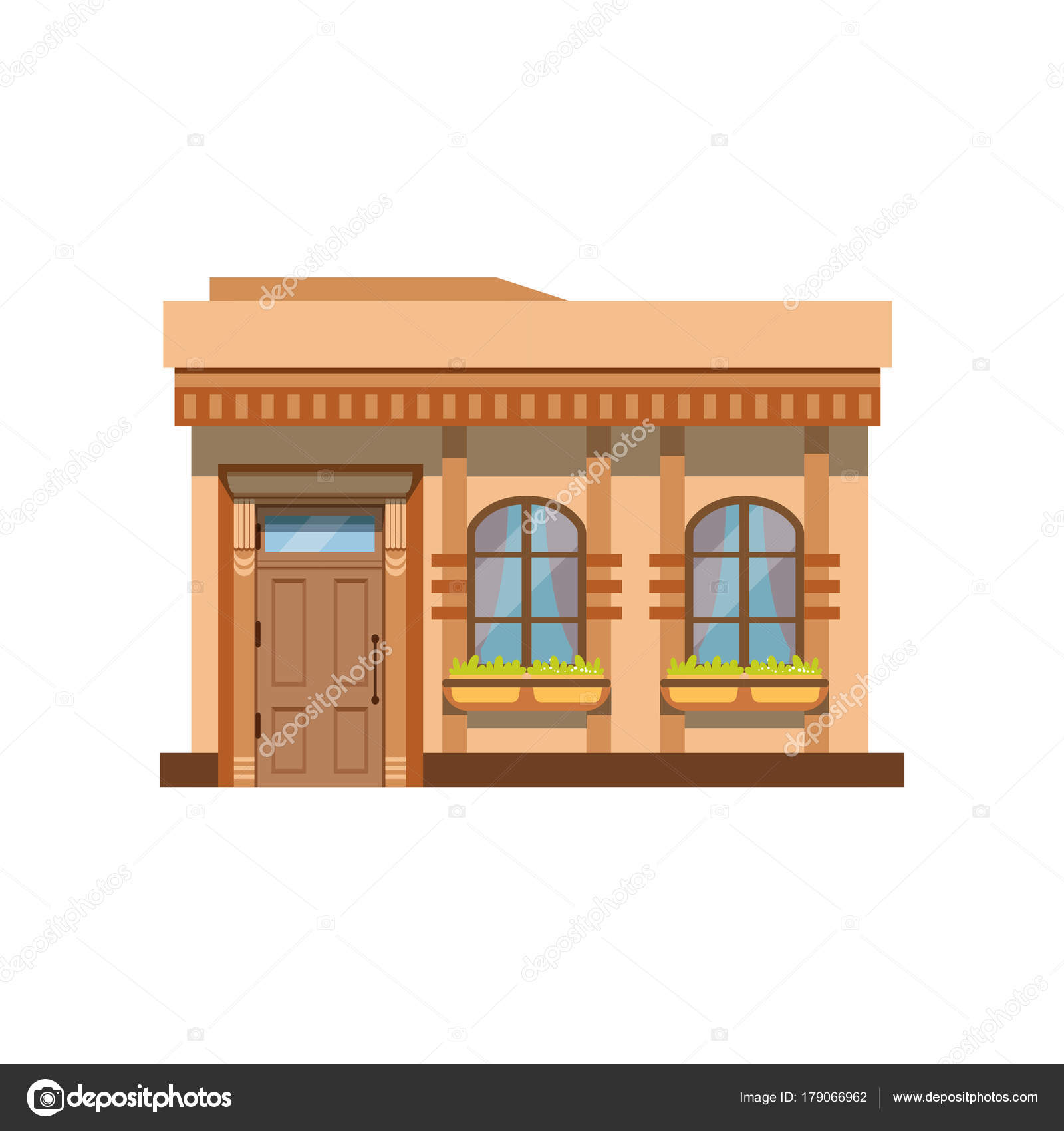 Cafe Shop Or Restaurant Facade Front View Of Store Vector Illustration Stock Vector C Topvectors 179066962