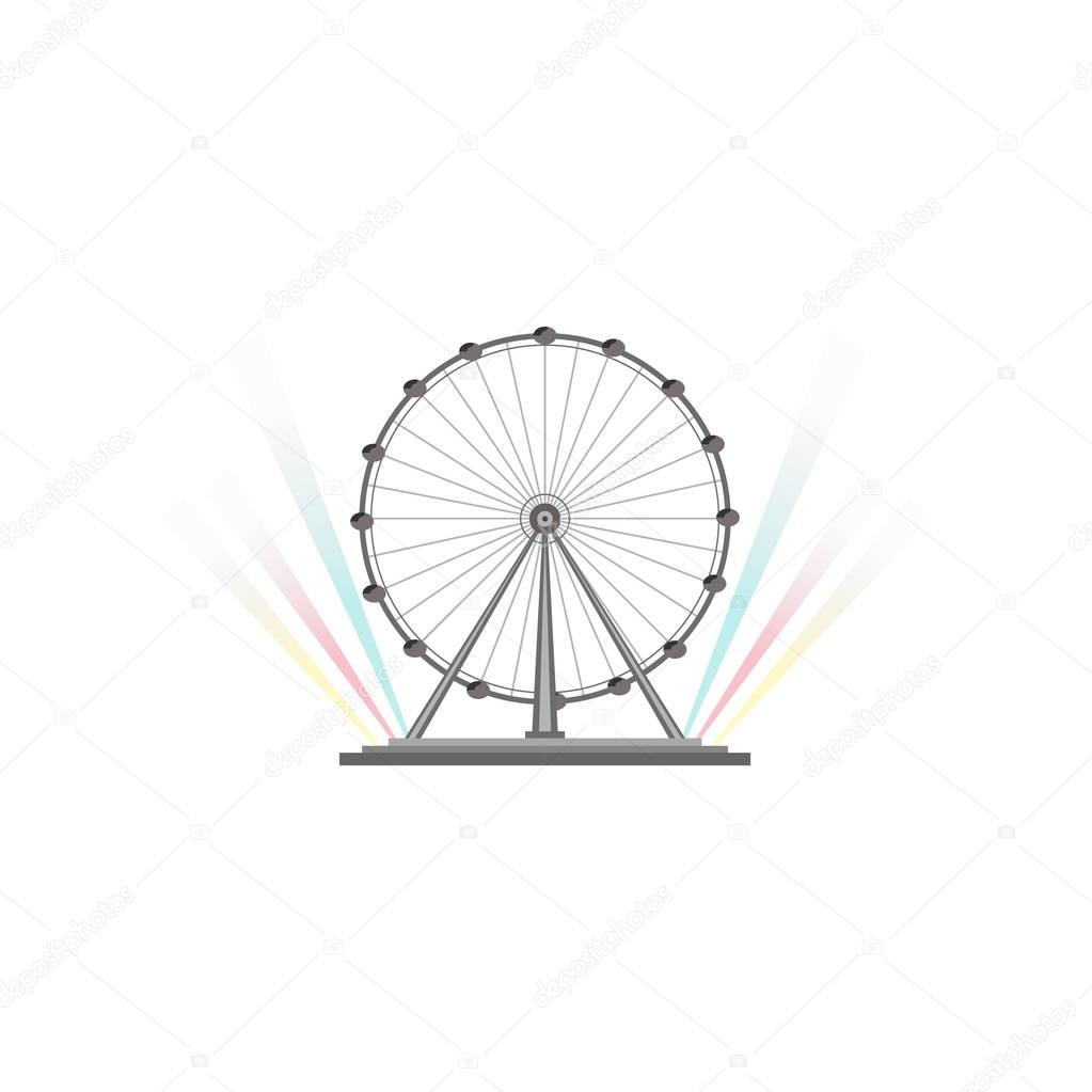Singapore Flyer, the largest ferris wheel in the world vector Illustration