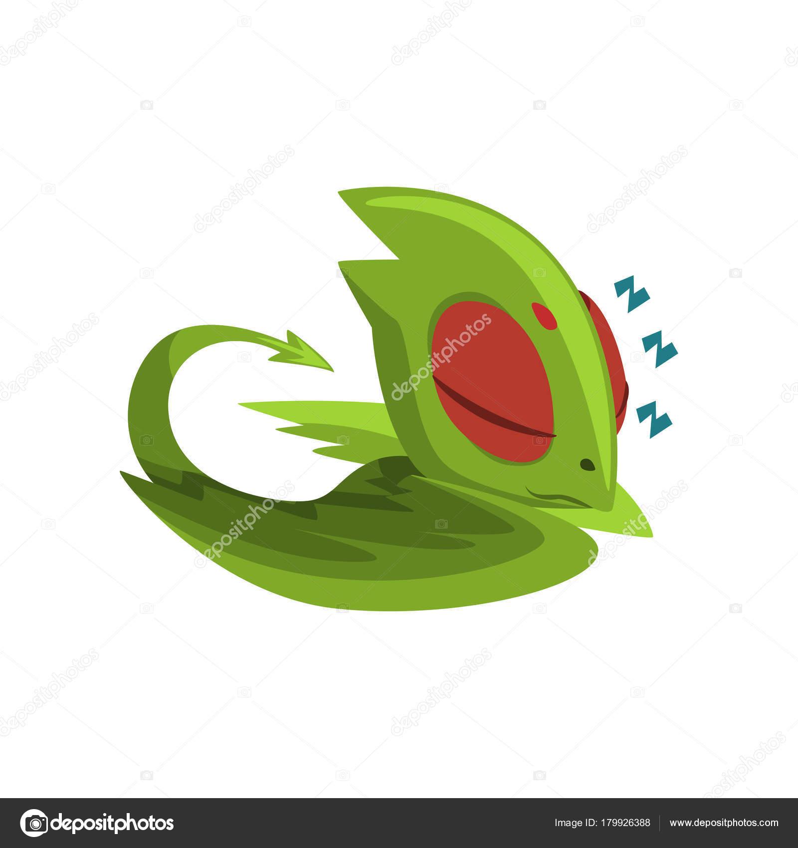 Animales Magicos Animados Dulce Dormir Dragon Bebe Personaje De
