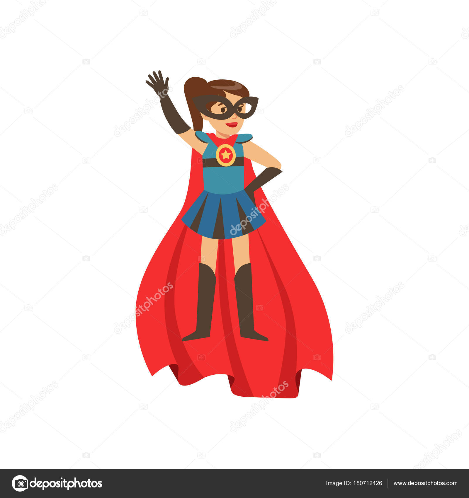 choisir véritable pas cher trouver le prix le plus bas Personnage de fille super héros vêtu d'un costume bleu avec ...