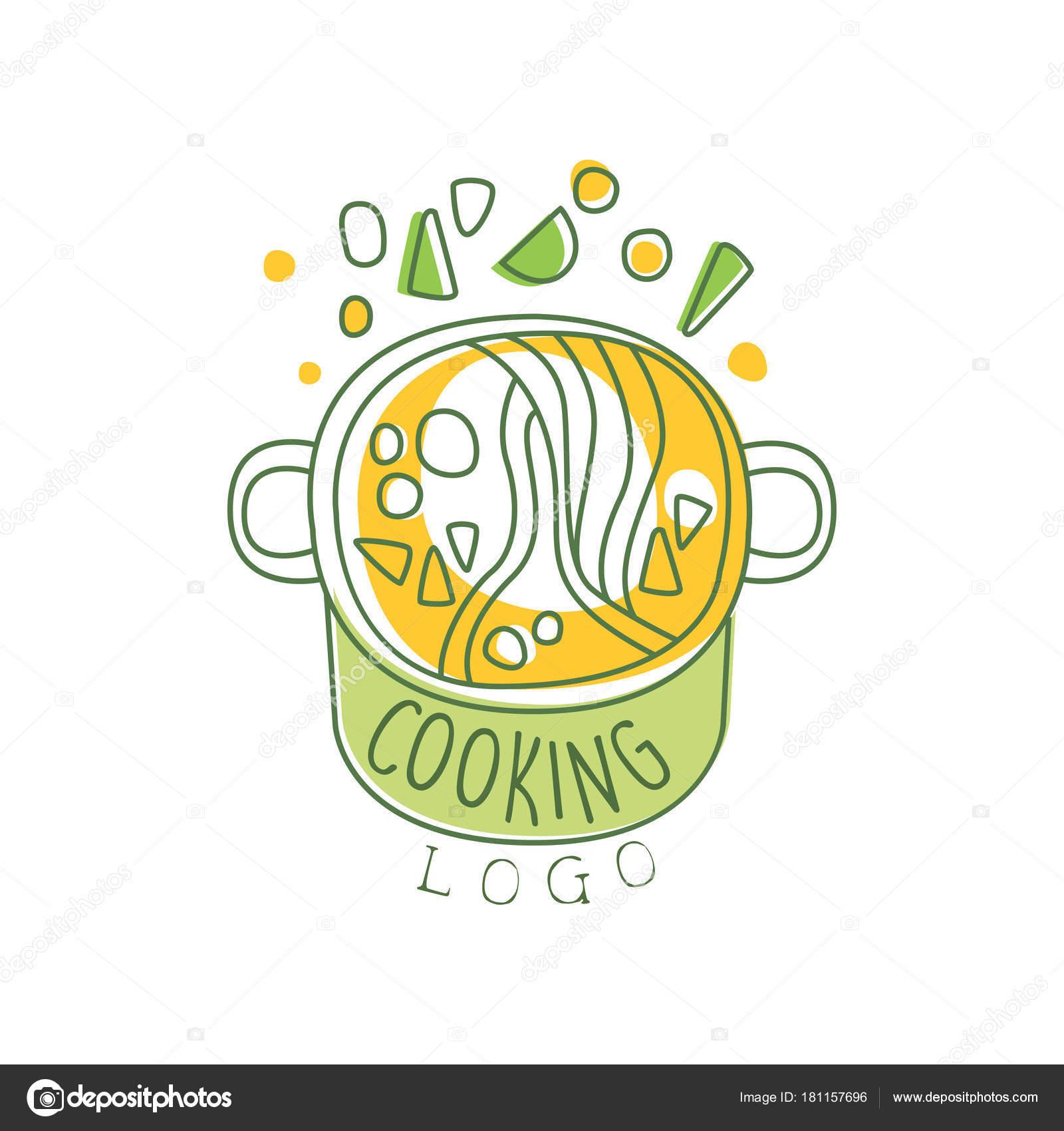 Mano dibuja cocina diseño original con sopa con verduras en una ...