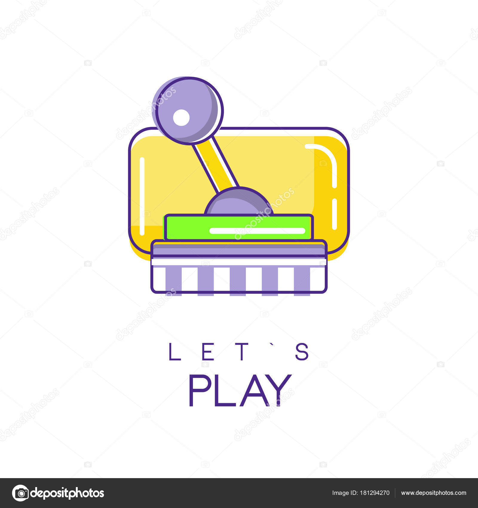 Logo Para Videojuegos Colorido Joystick Para Videojuegos De