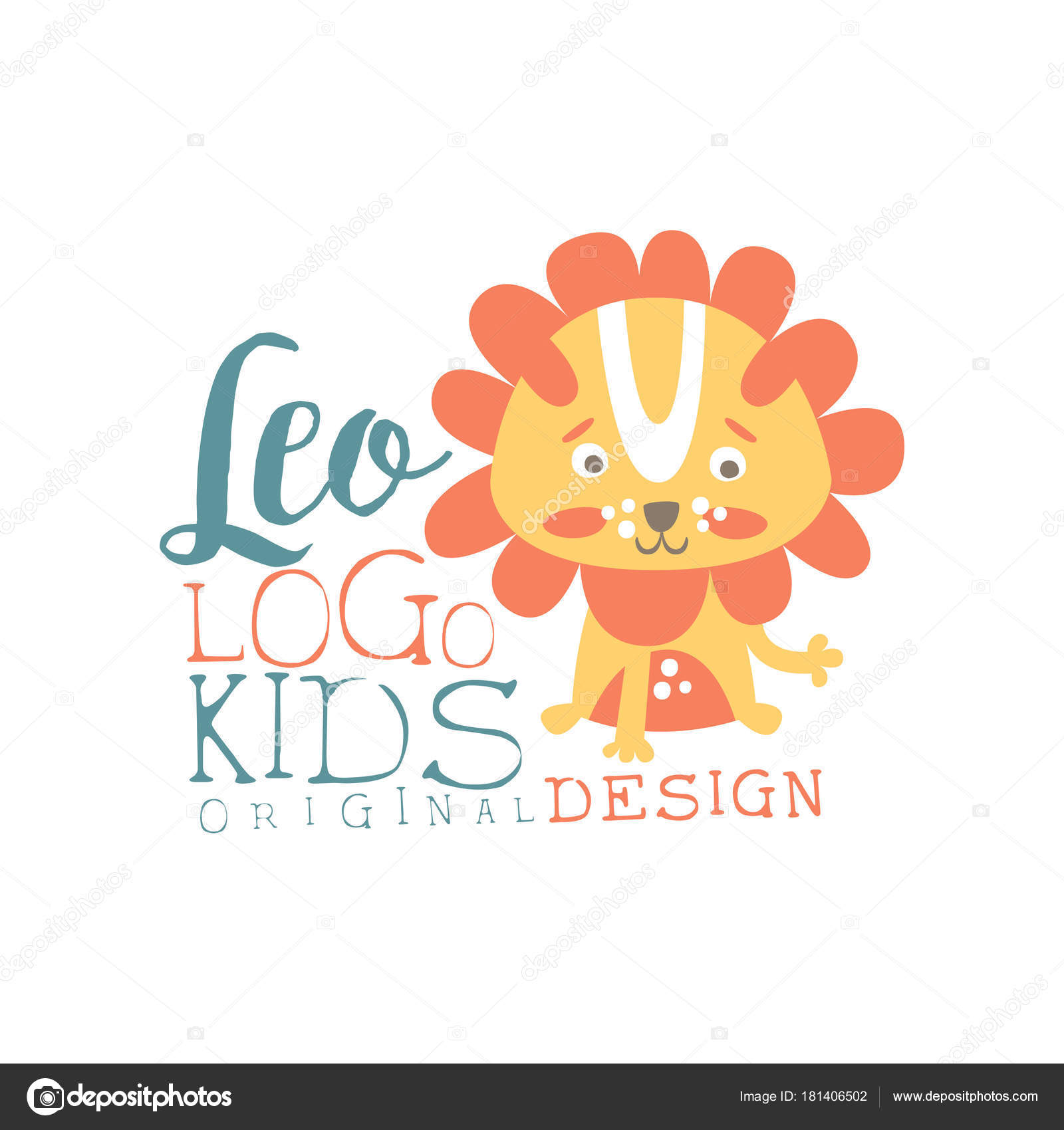 Leo Kids Logo Original Design, Baby Shop Label, Fashion Print For Kids Wear, Baby Shower
