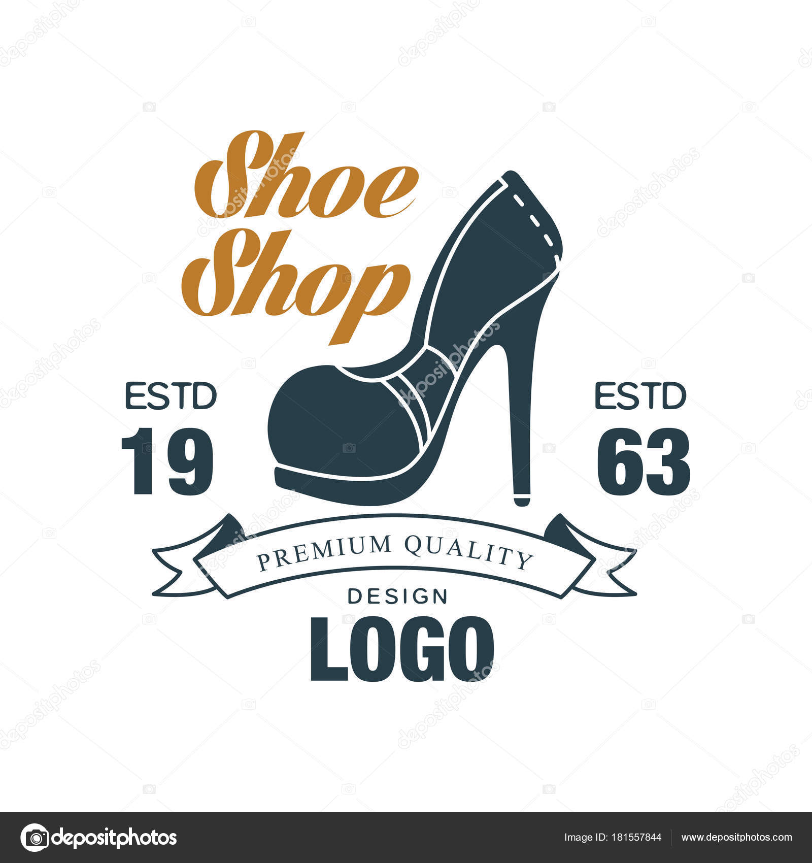 0b710f6e ... estd 1963 insignia vintage de Zapatero, zapato tienda y zapatos  reparación vector ilustración sobre un fondo blanco - logos de empresas de  calzado ...