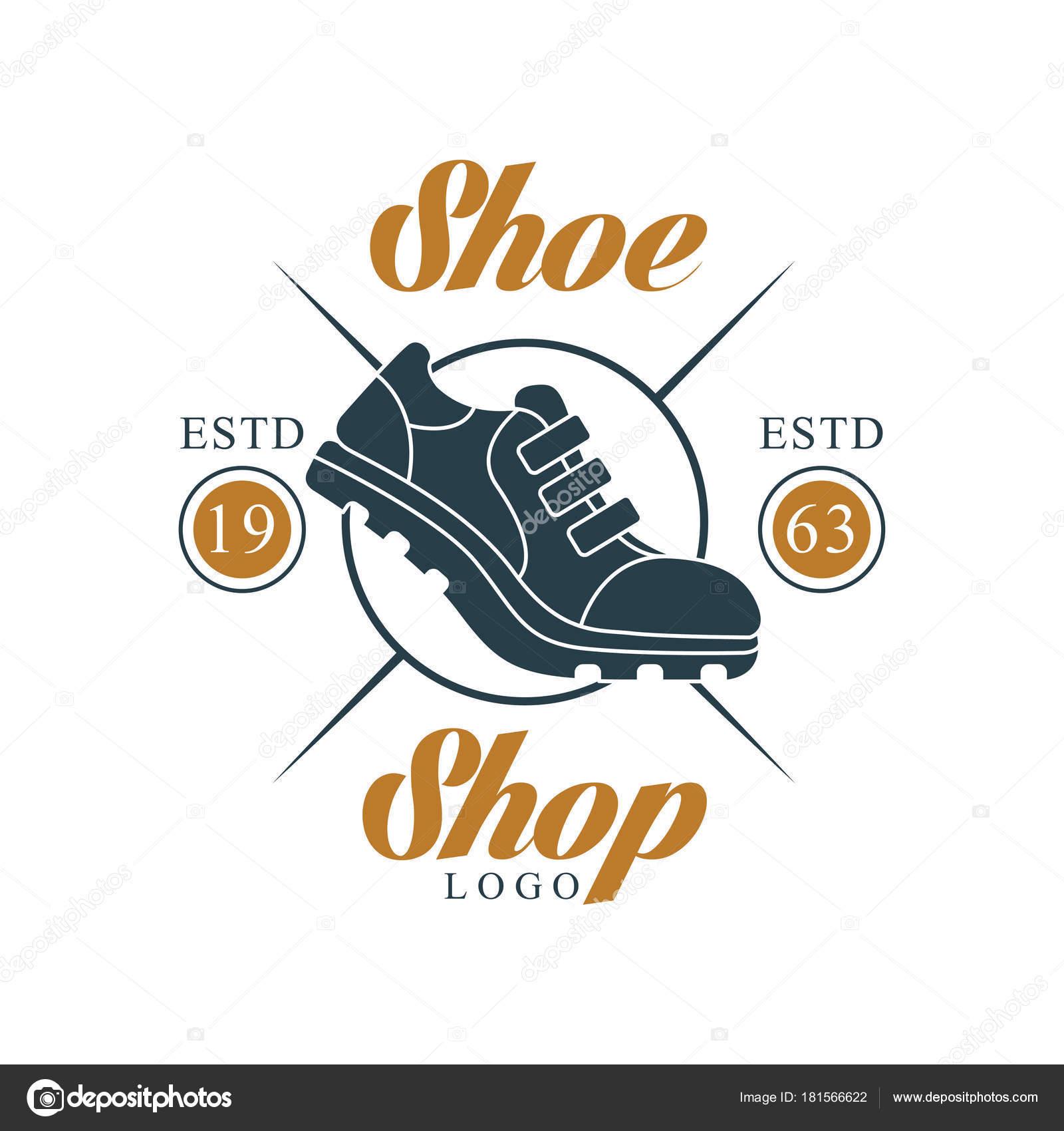 102bacd4 Zapato tienda insignia, estd 1963, vintage tarjeta de identidad de la  empresa, marca