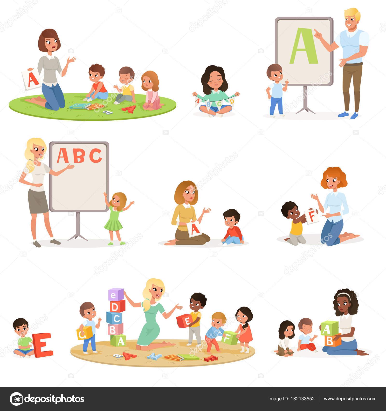 Dibujos Profesoras Infantiles Juego De Ninos Hacer Terapia Del