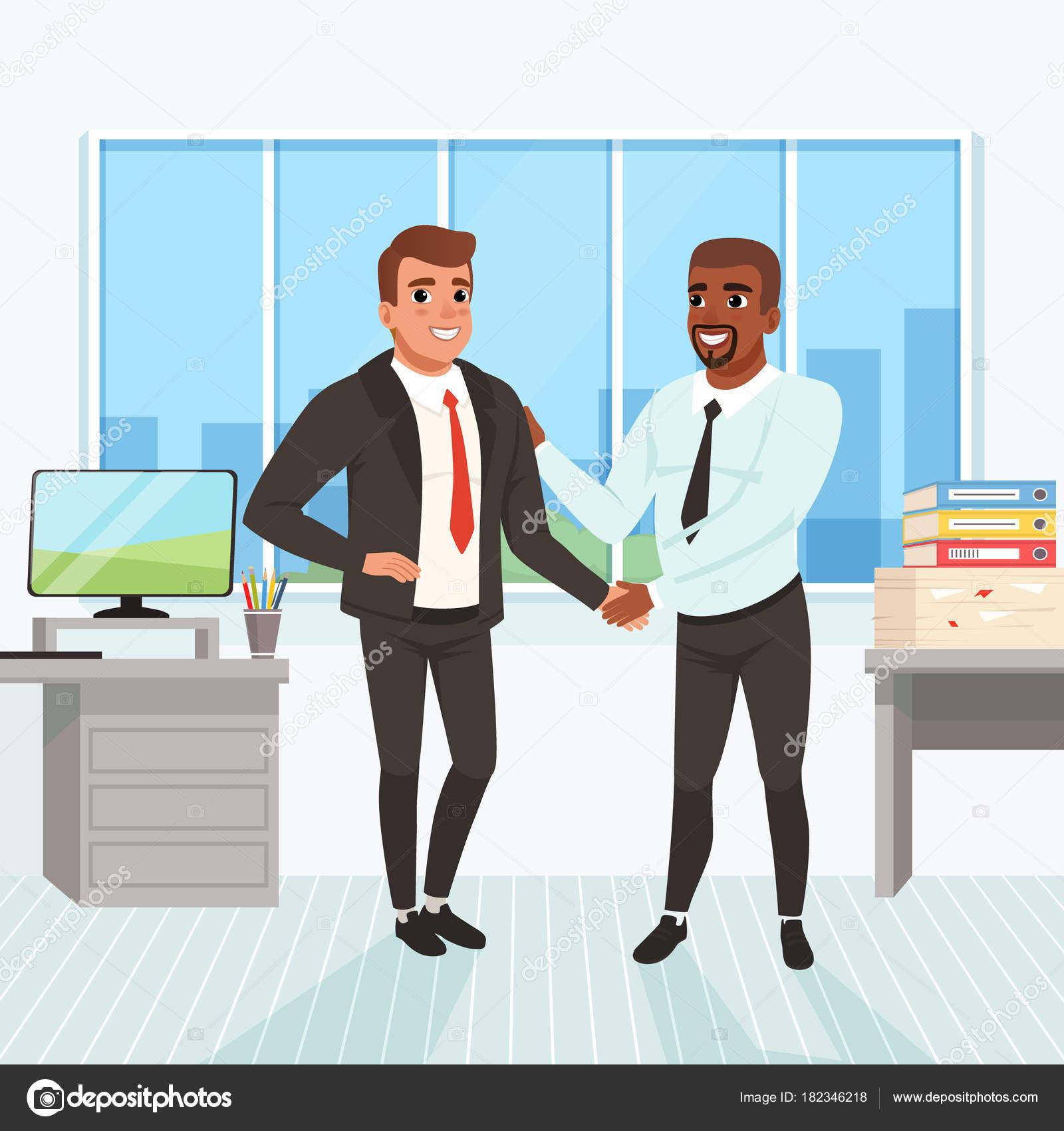 Promocion de la carrera | El jefe felicitando al empleado ...
