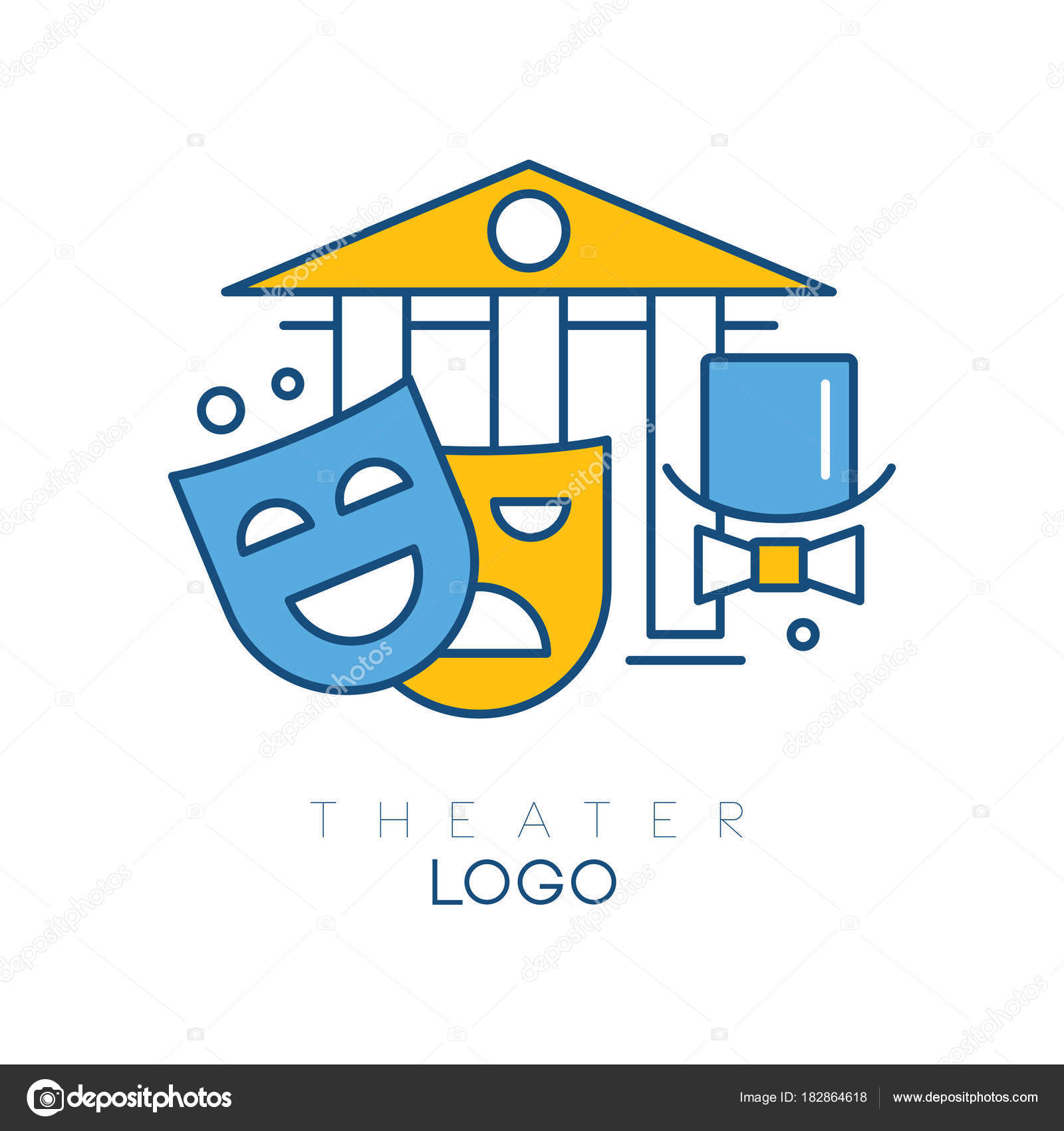 2fdfd40fc85 Abstract logo design with columns