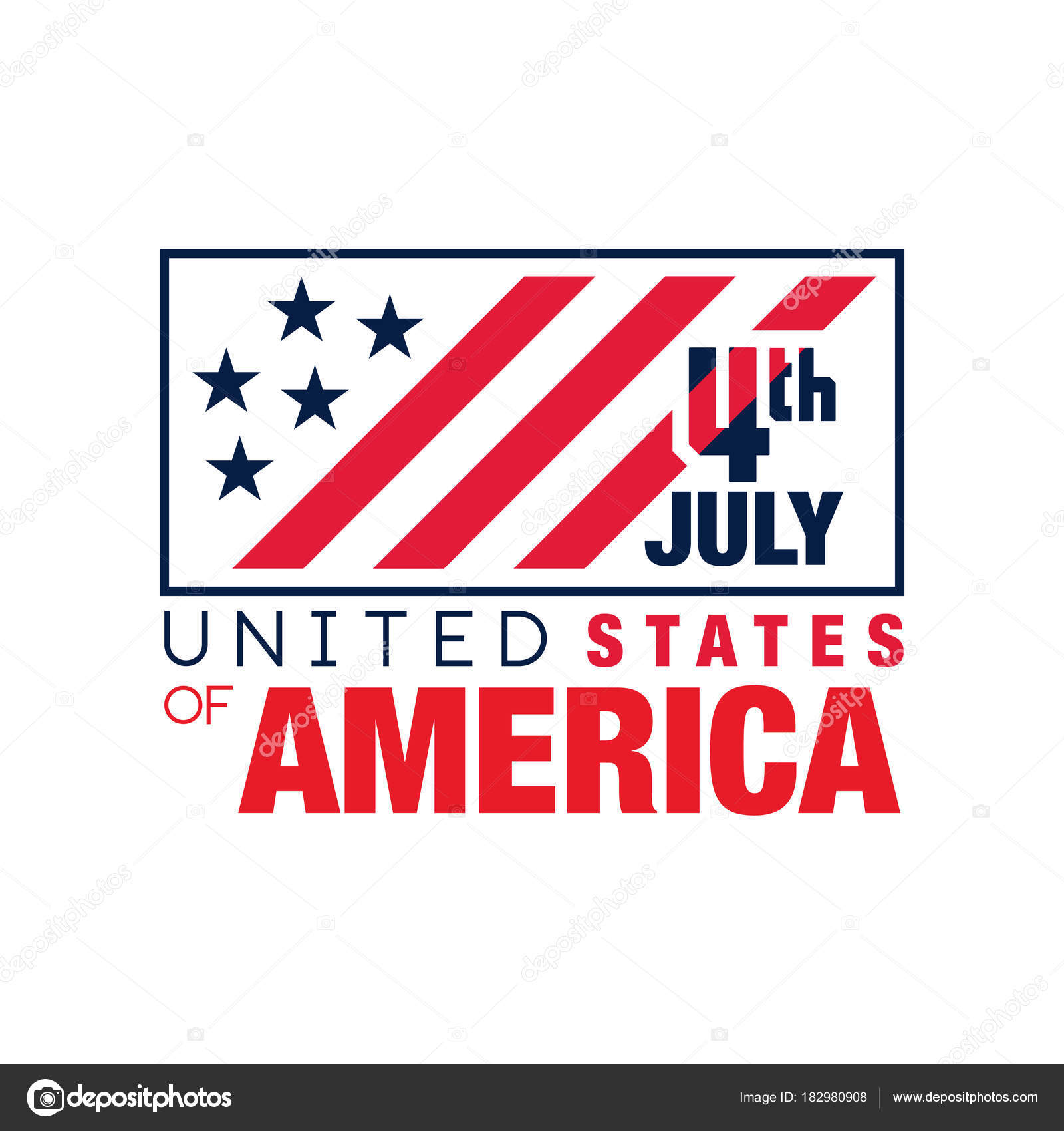 Creative monochrome emblem with american flag happy 4th of july creative monochrome emblem with american flag happy 4th of july usa independence day national holiday graphic design for logo banner or greeting card m4hsunfo