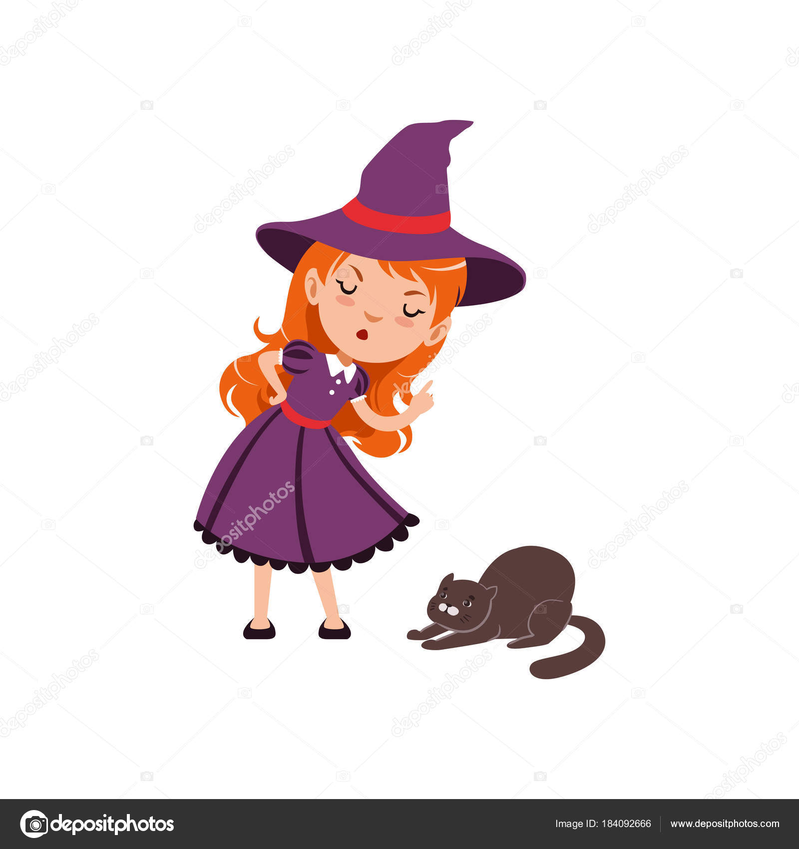 Fashion style Cartoon what cat wears a purple hat for woman