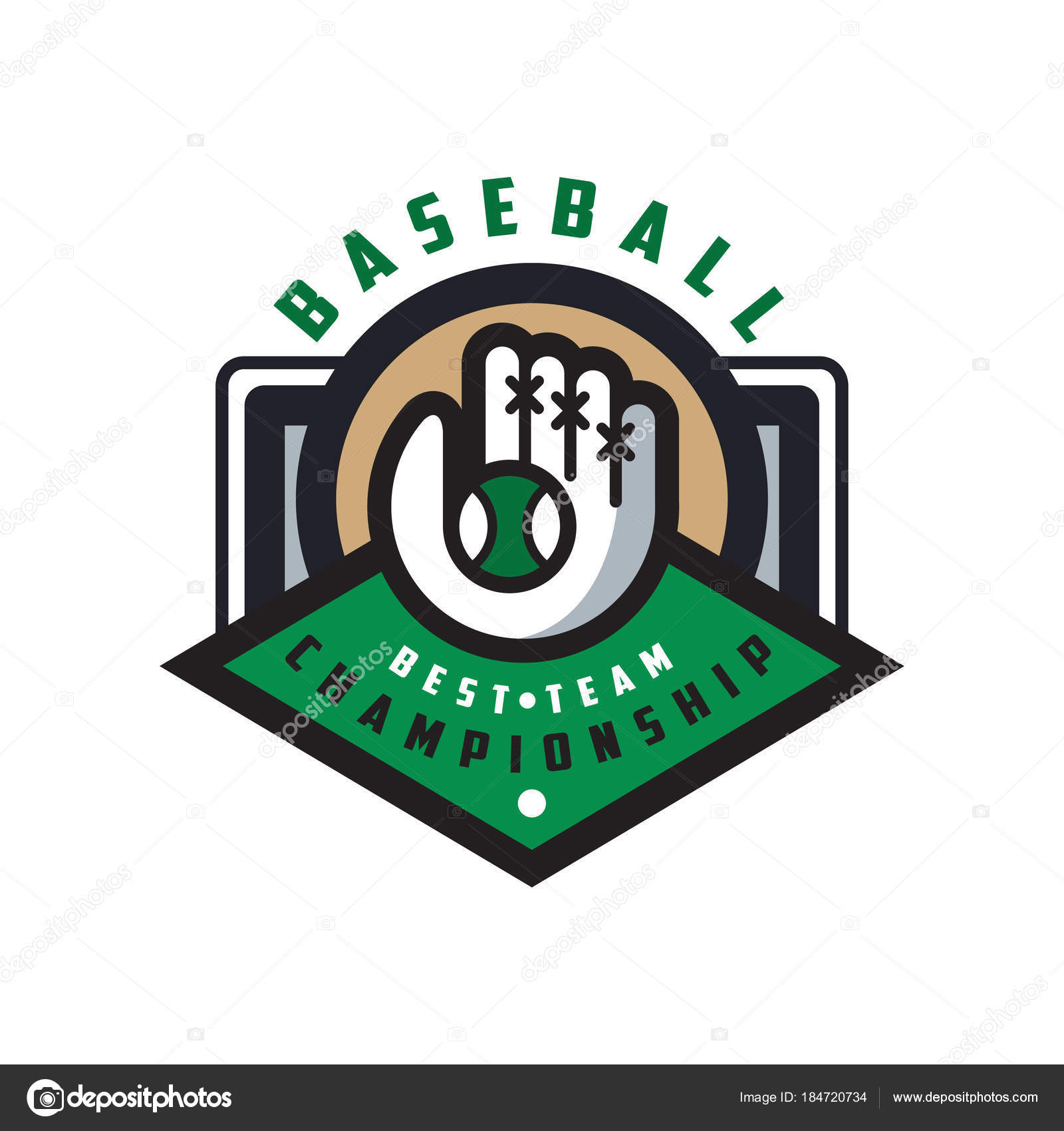 Baseball Championship Best Team Logo Template Design Element For Badge Banner Emblem Label Insignia Vector Illustration Isolated On A White