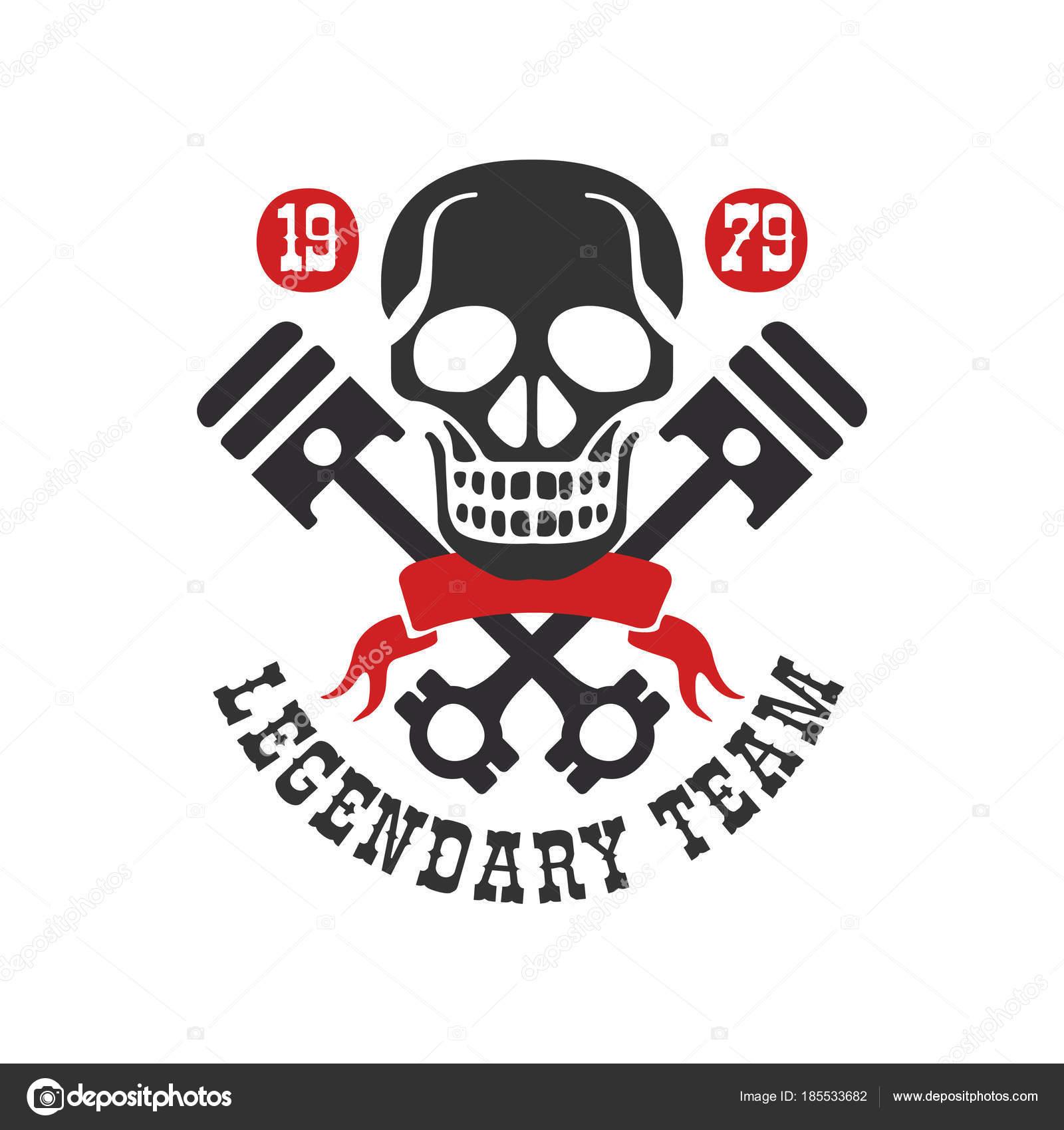 Legendary Tean Logo 1979 Design Element For Moto Or Biker Club