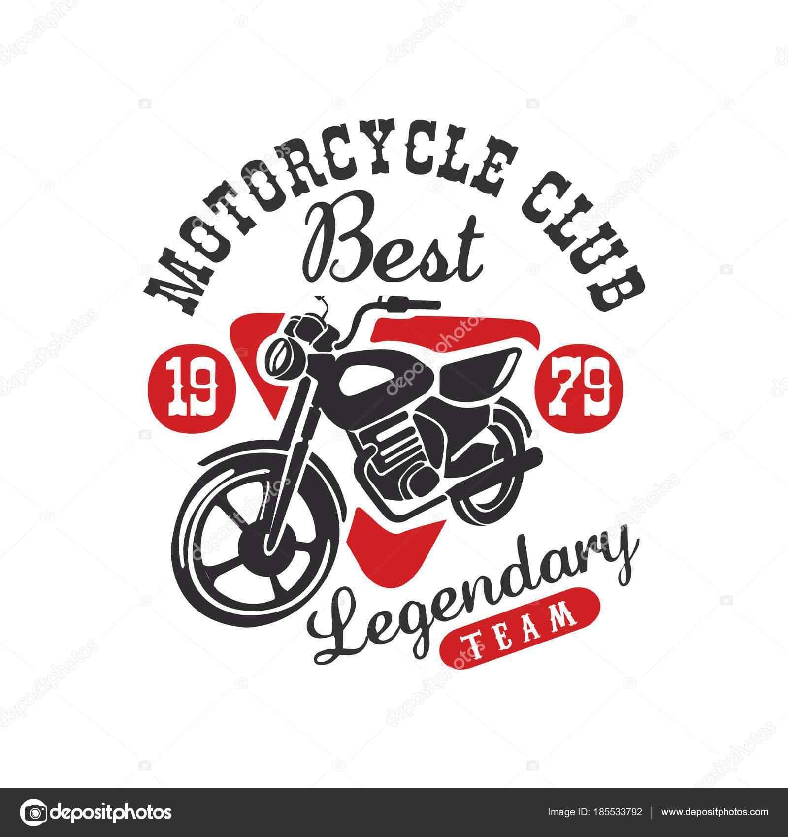 Motorrad-Club-Logo, bester legendären Team, Design-Element für Motor ...