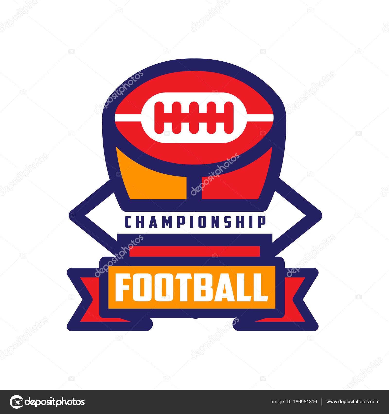 Plantilla de logotipo de Campeonato de fútbol, fútbol americano ...