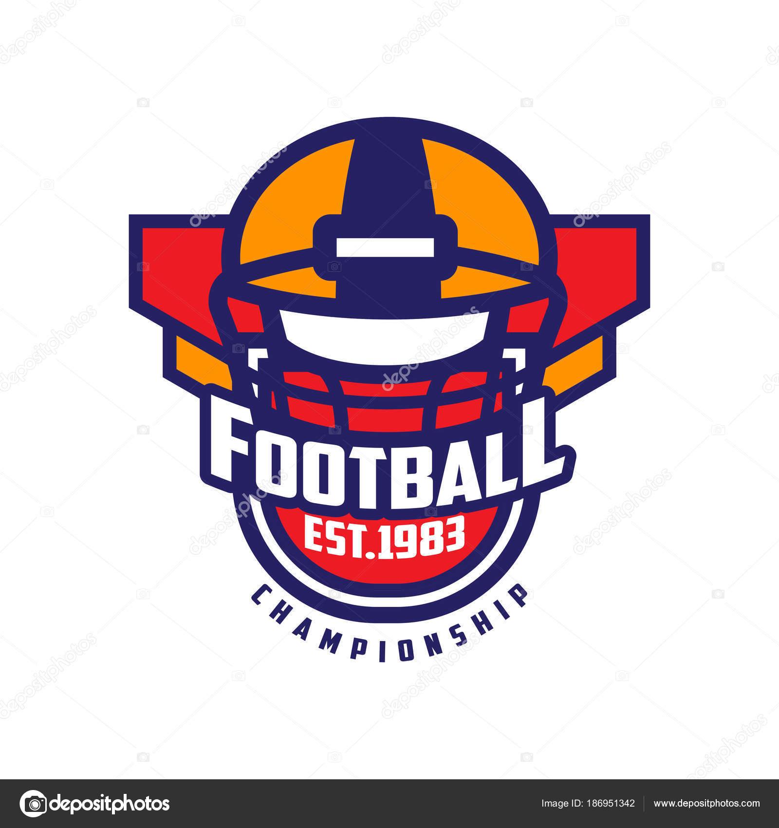 Football Championship Logo Template American Football Emblem Est