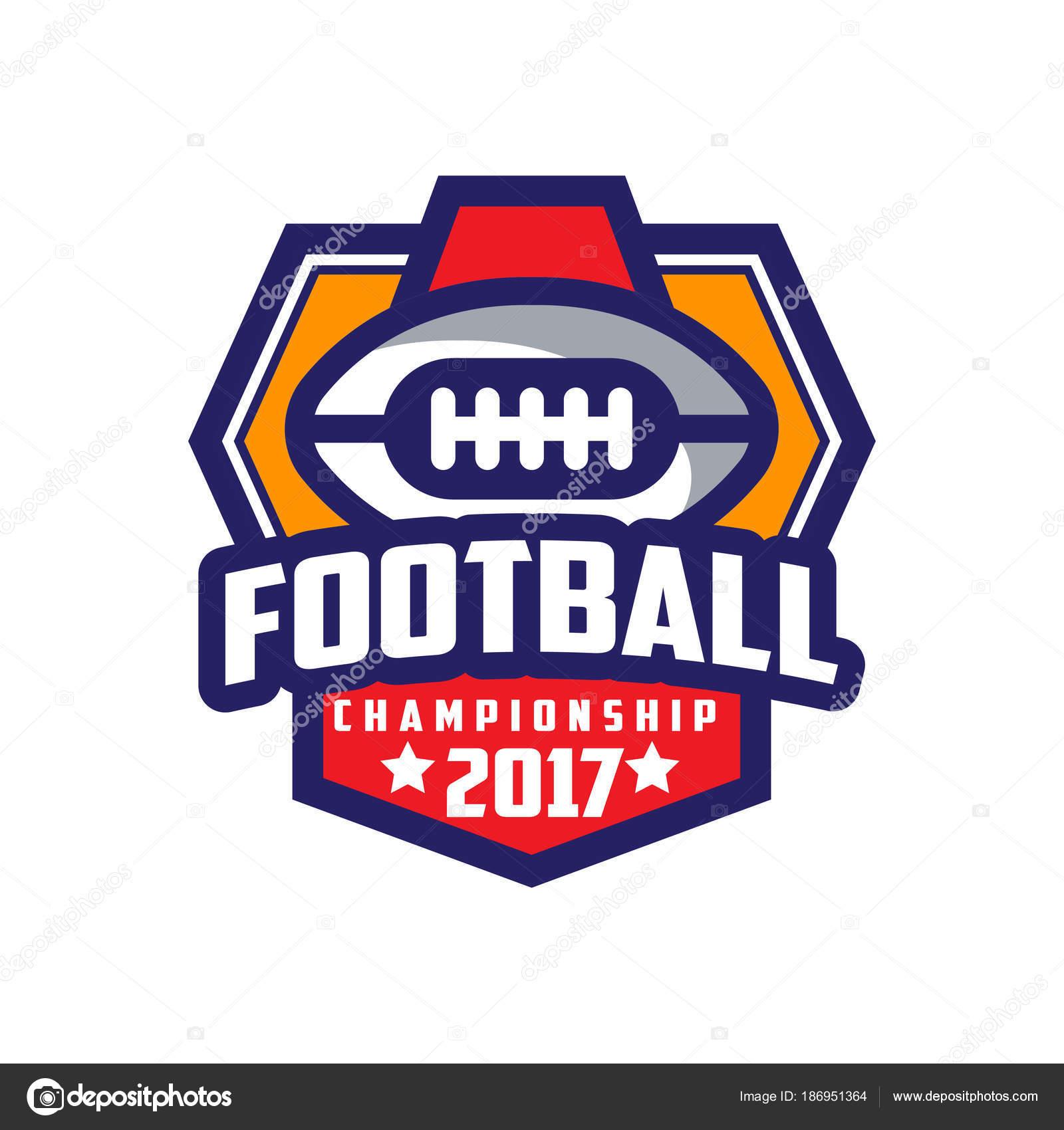 Football Championship 2017 Logo Template American Football Emblem