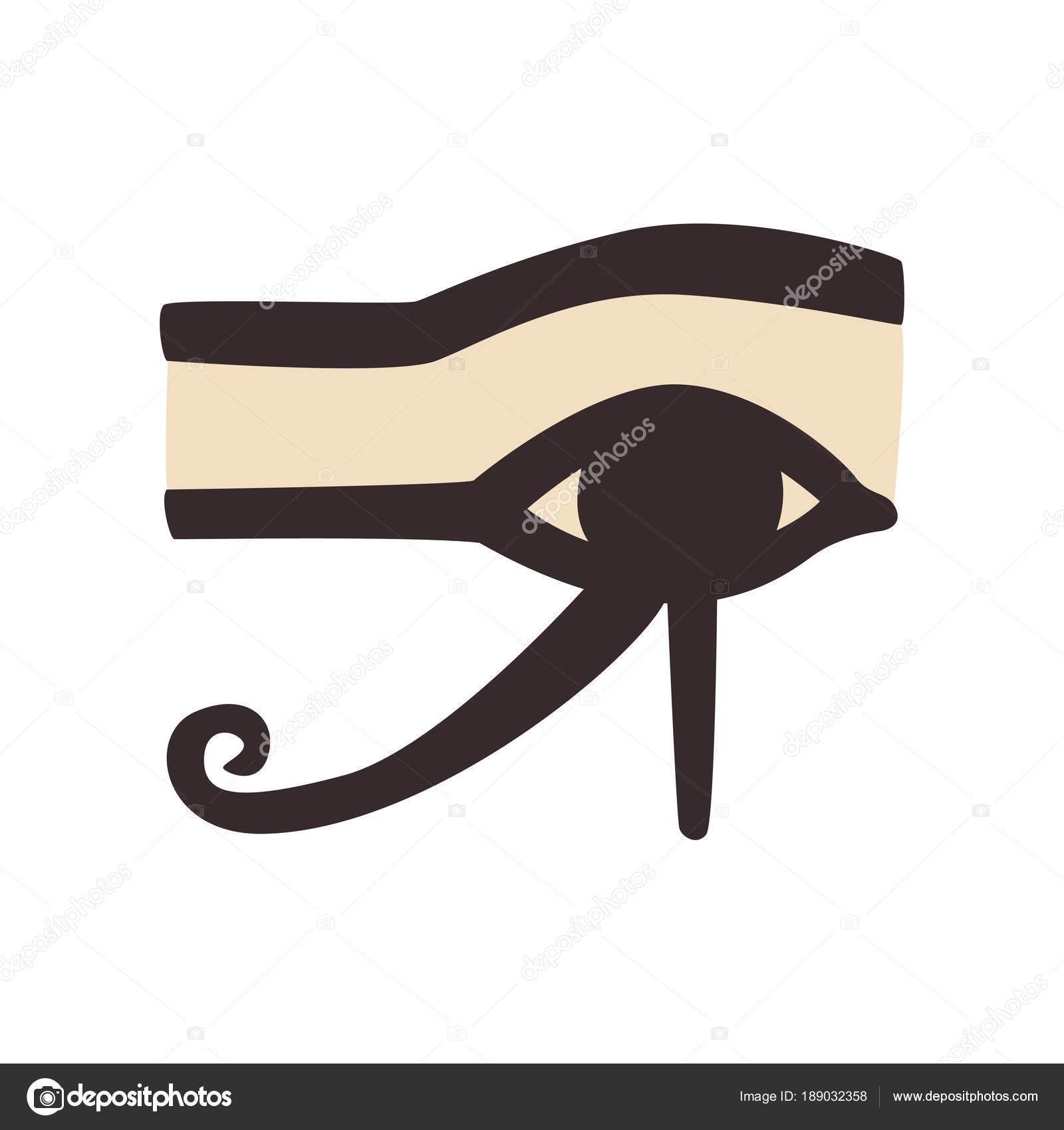 Dibujos Egipcios Reales Wedjat U Ojo De Horus Antiguo