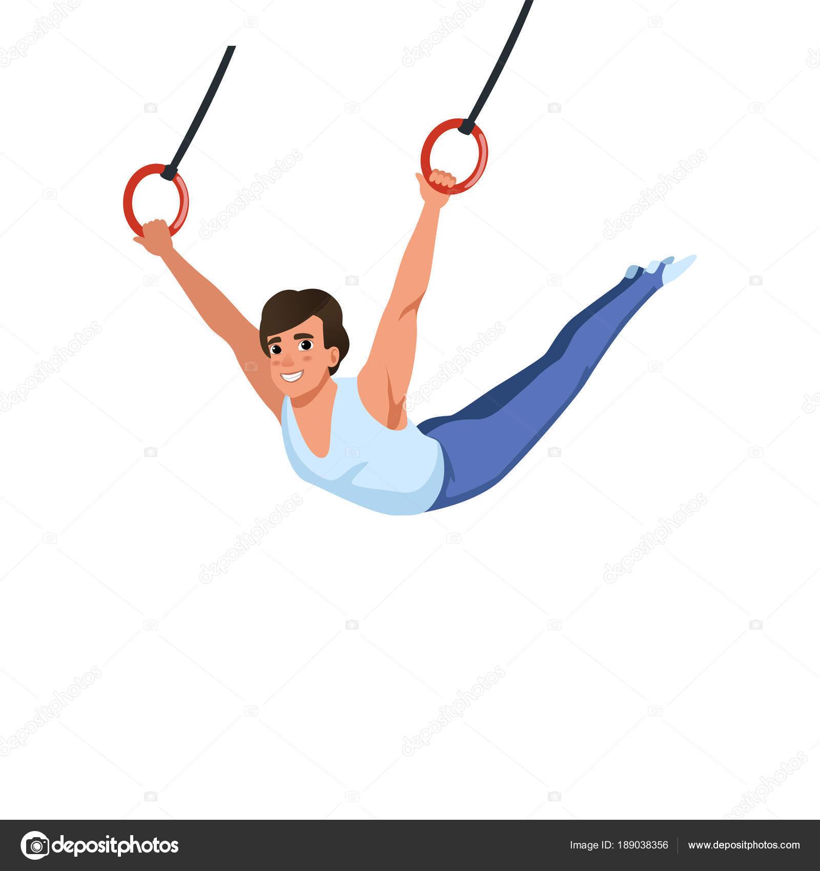 Mlady Kluk Skoleni O Krouzky Pristroje Sportovni Gymnastika