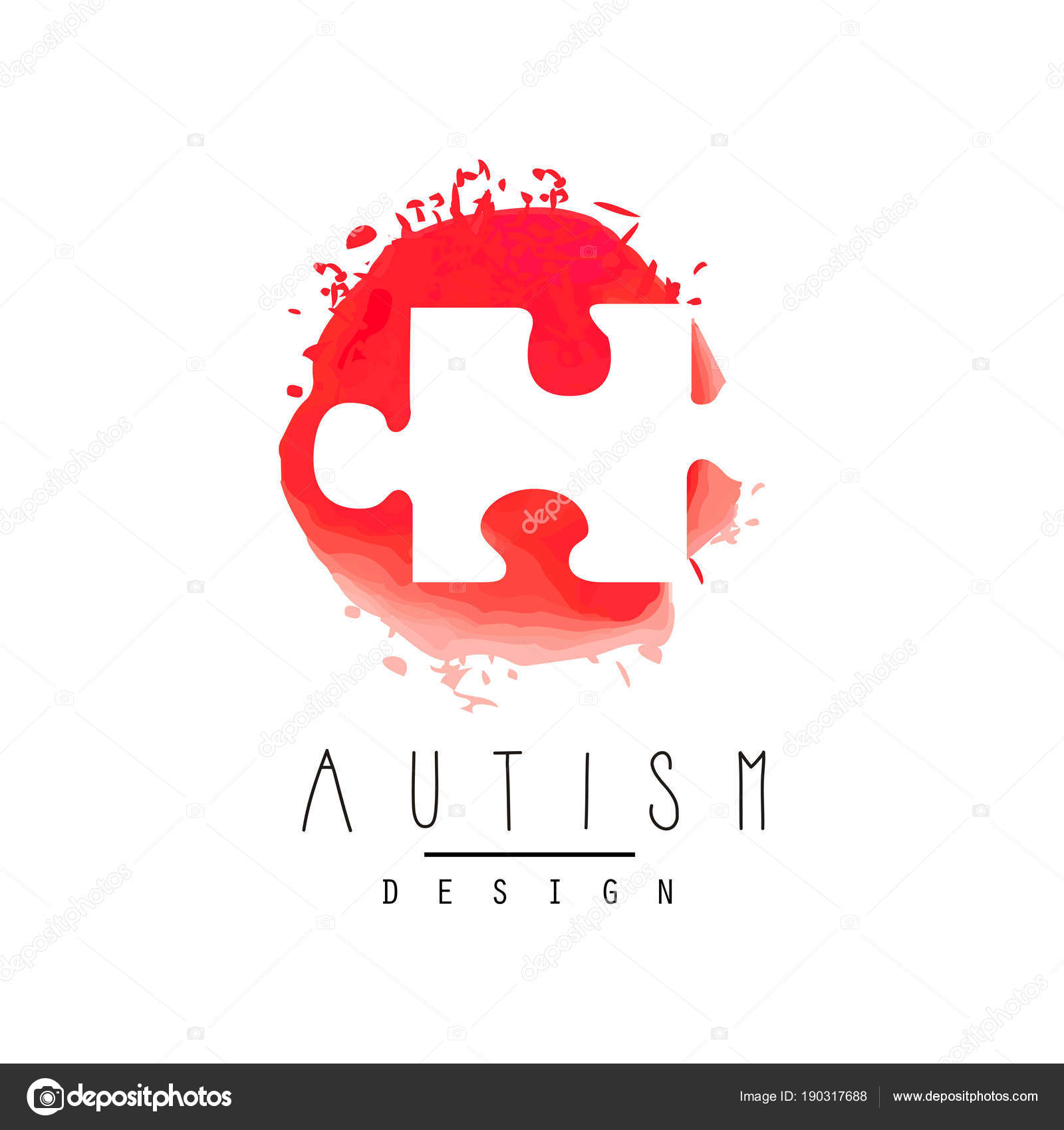 Abstract vector logo with puzzle symbol of down syndrome autism symbol of down syndrome autism awareness day healthcare concept vector design for invitation medical center or charitable organization stopboris Choice Image