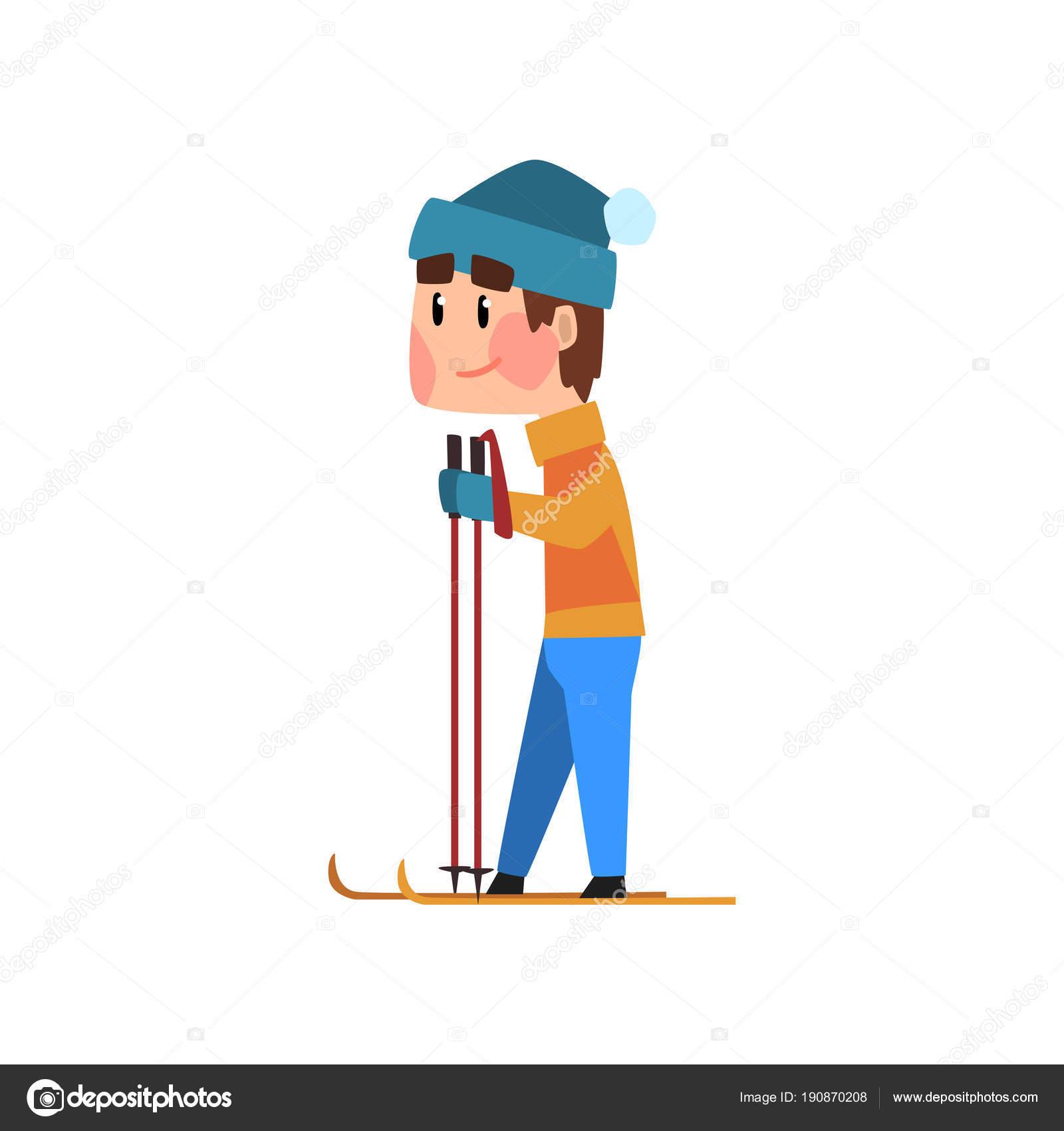y Hombre azul esquí sombrero vector chaqueta en de naranja una q1BYq