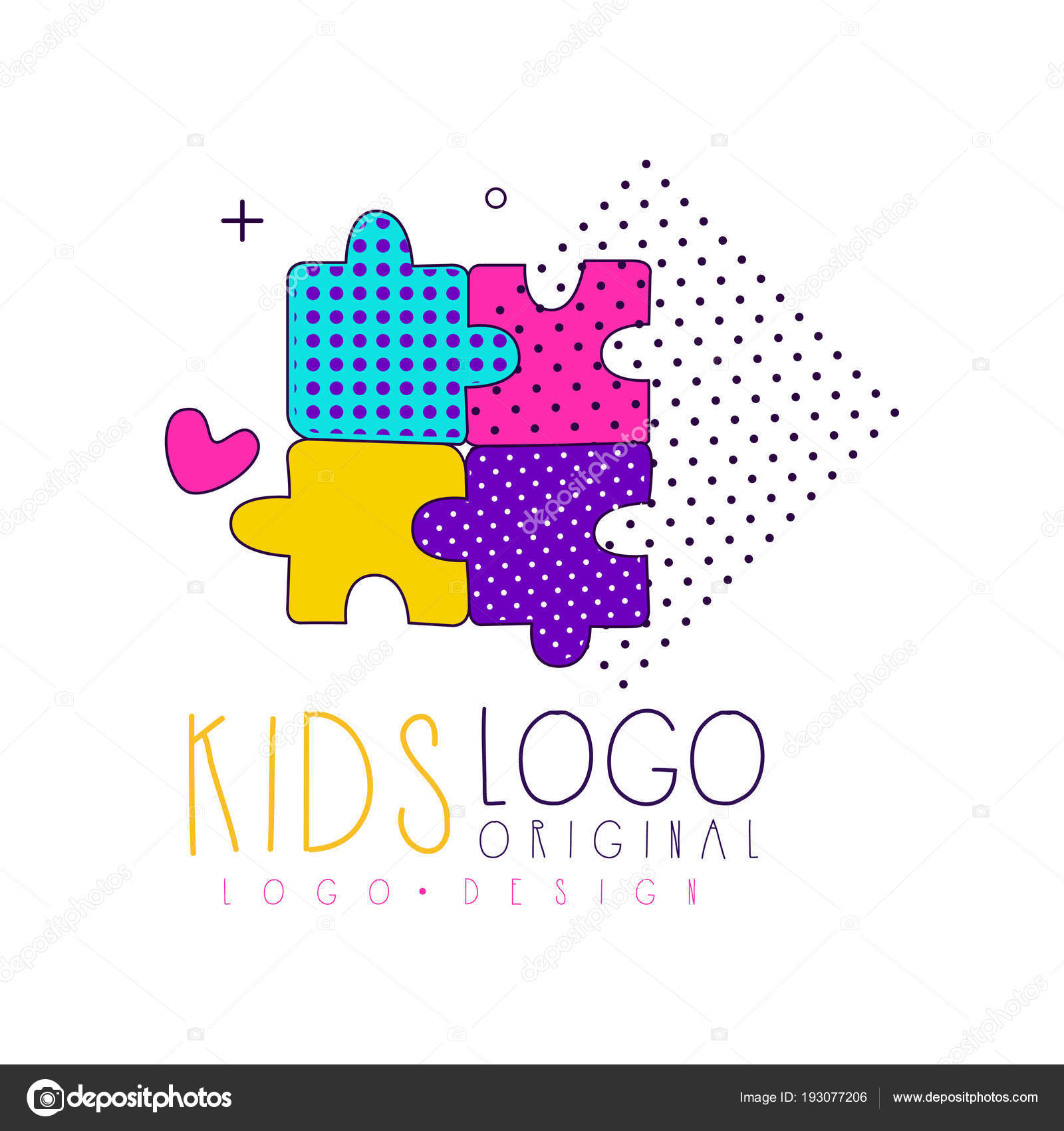 Kids Club Logo Original Design Bright Badge For Kids Club Toys